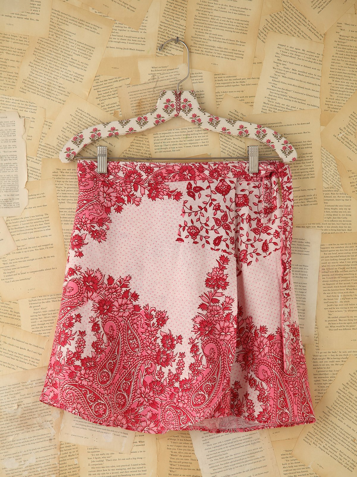 Printed Wrap Mini Skirt