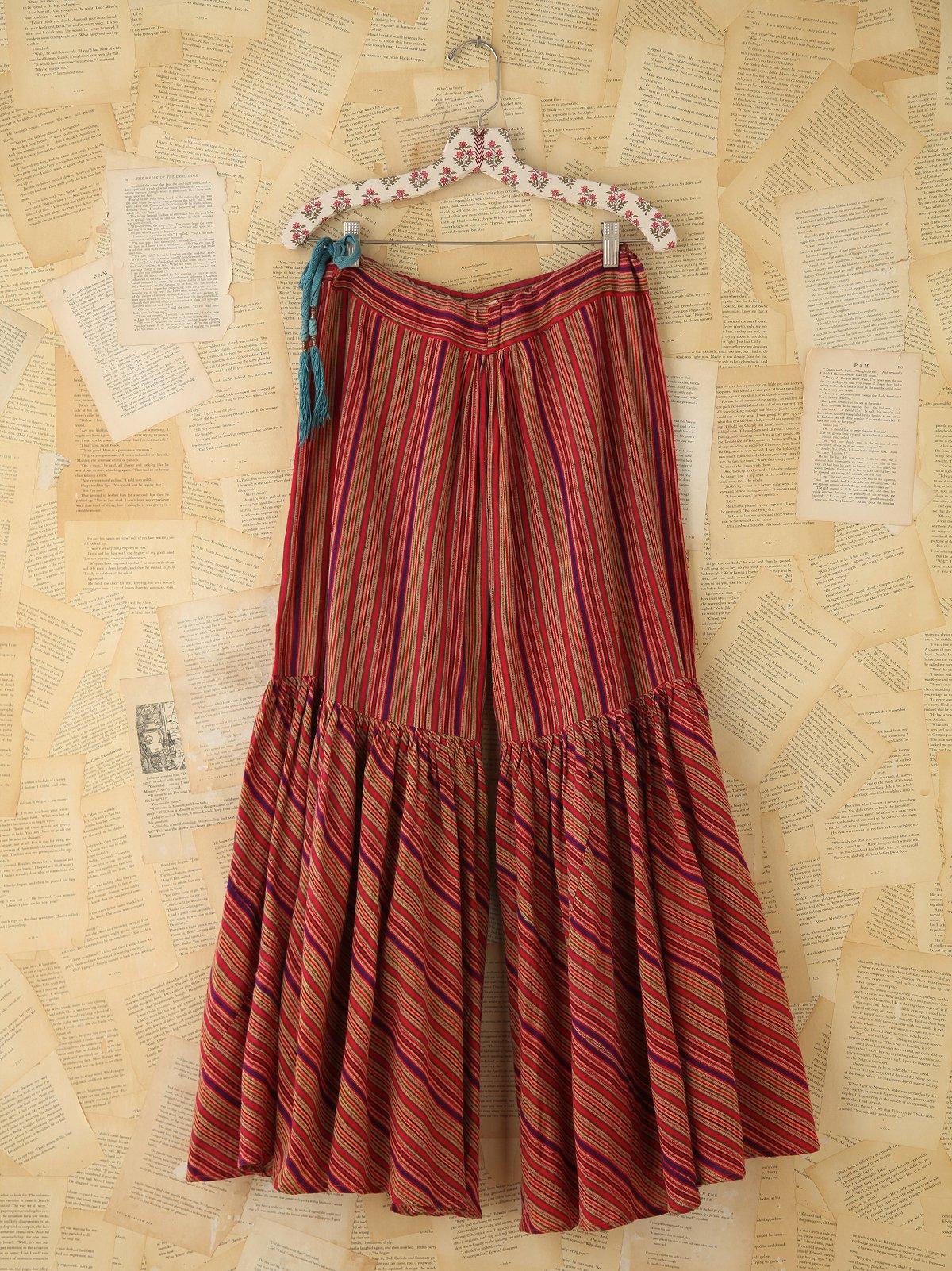 Vintage Striped Palazzo Pants