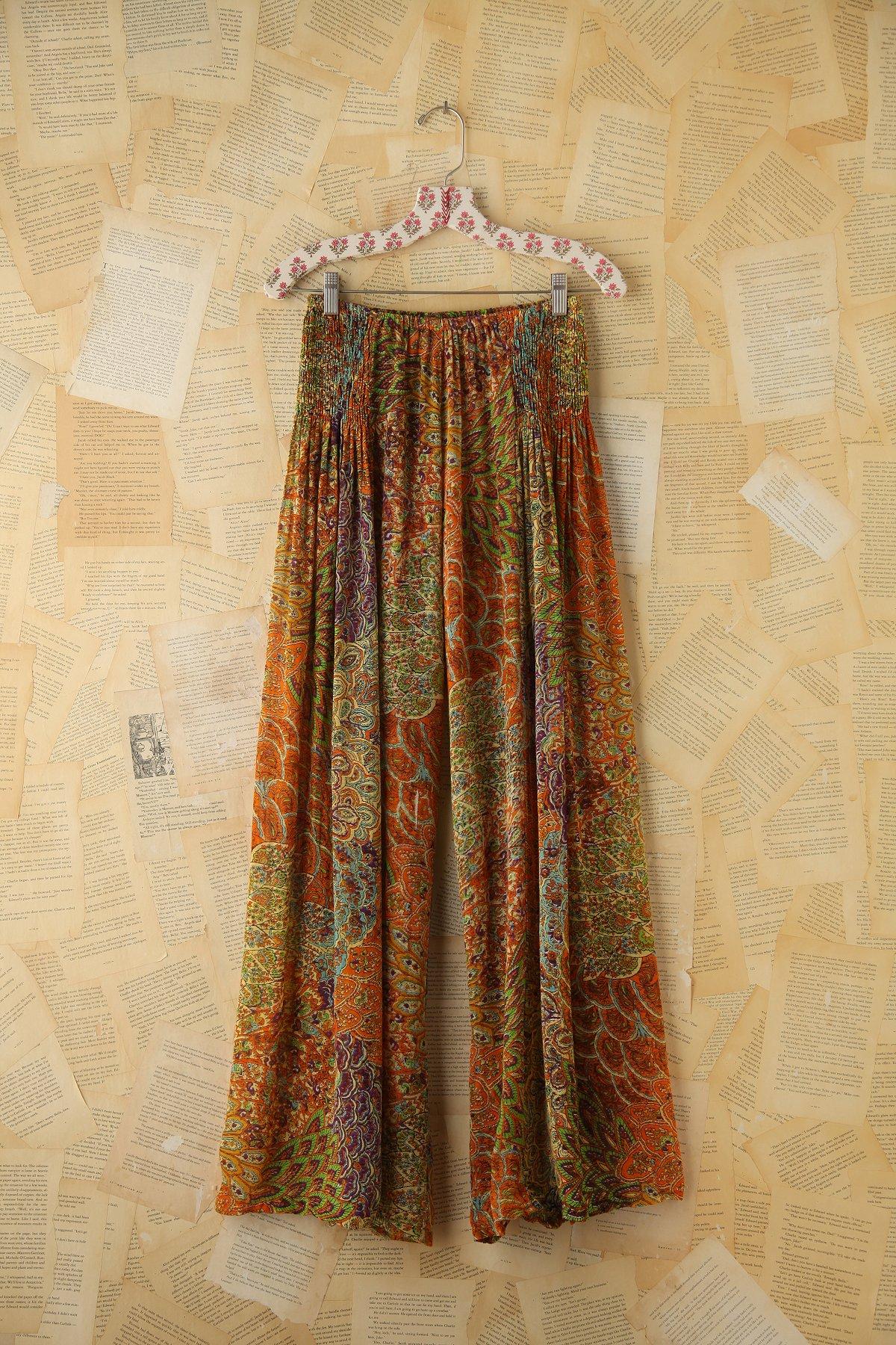 Vintage Printed Wideleg Pants