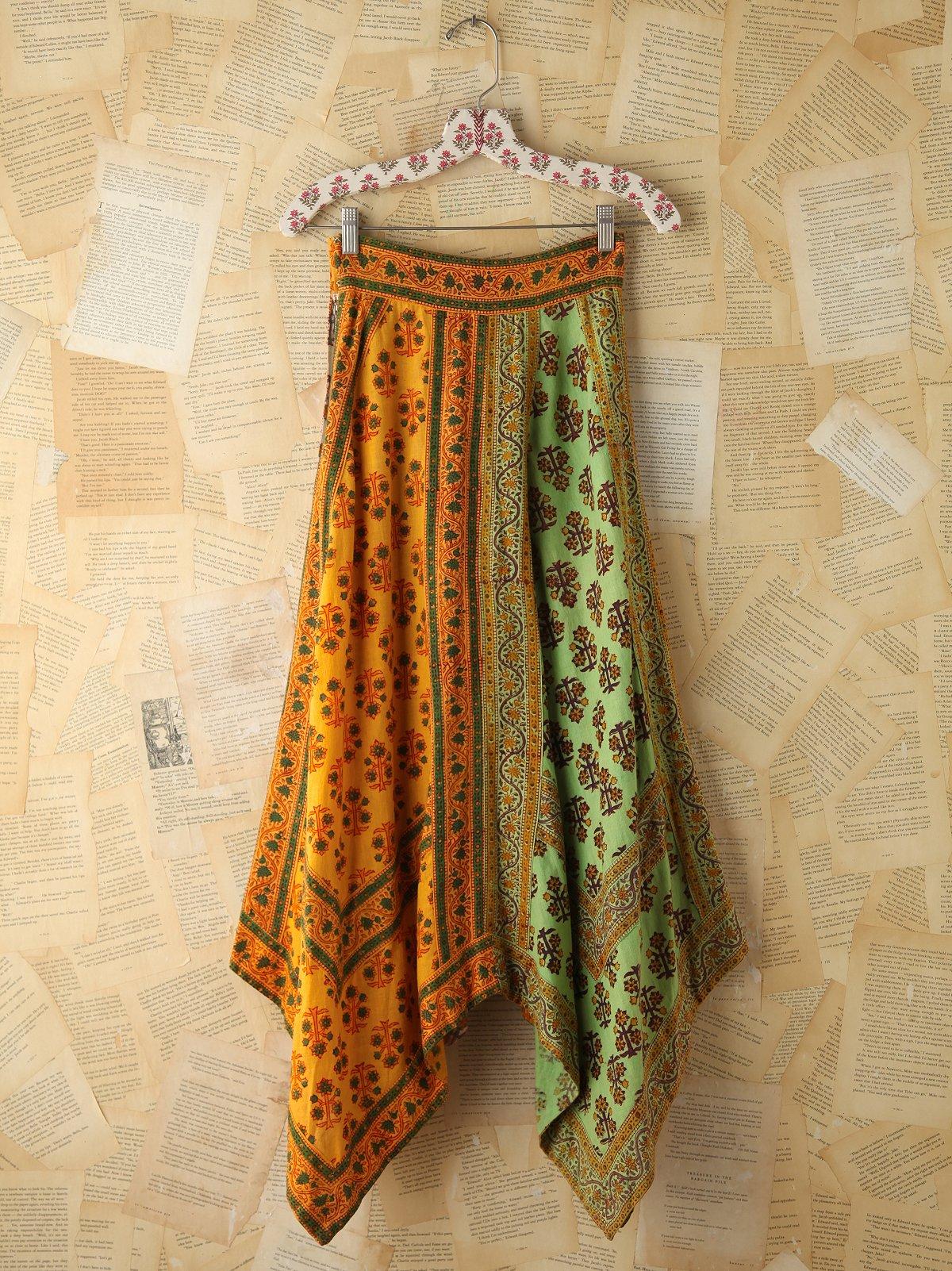 Vintage Colorful Printed Skirt