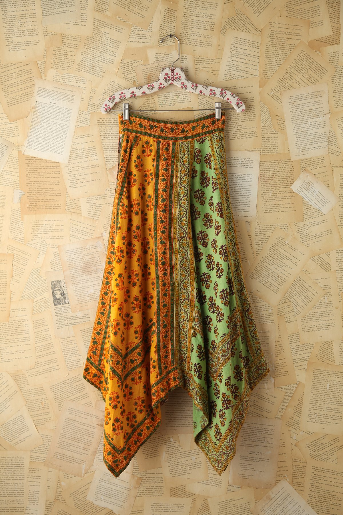 Vintage Colorful Printed Skirt