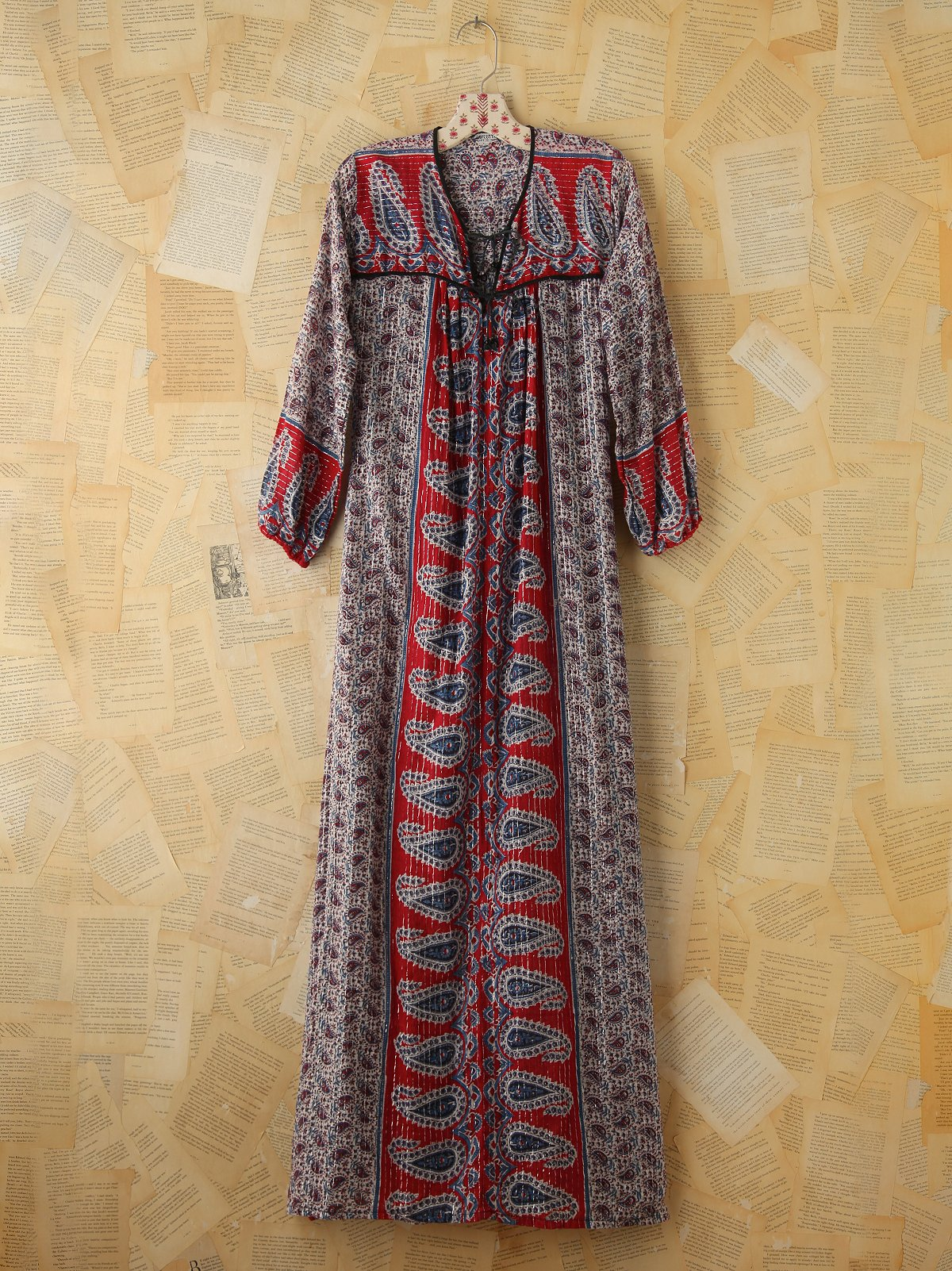 Vintage Gauzy Printed Maxi Dress