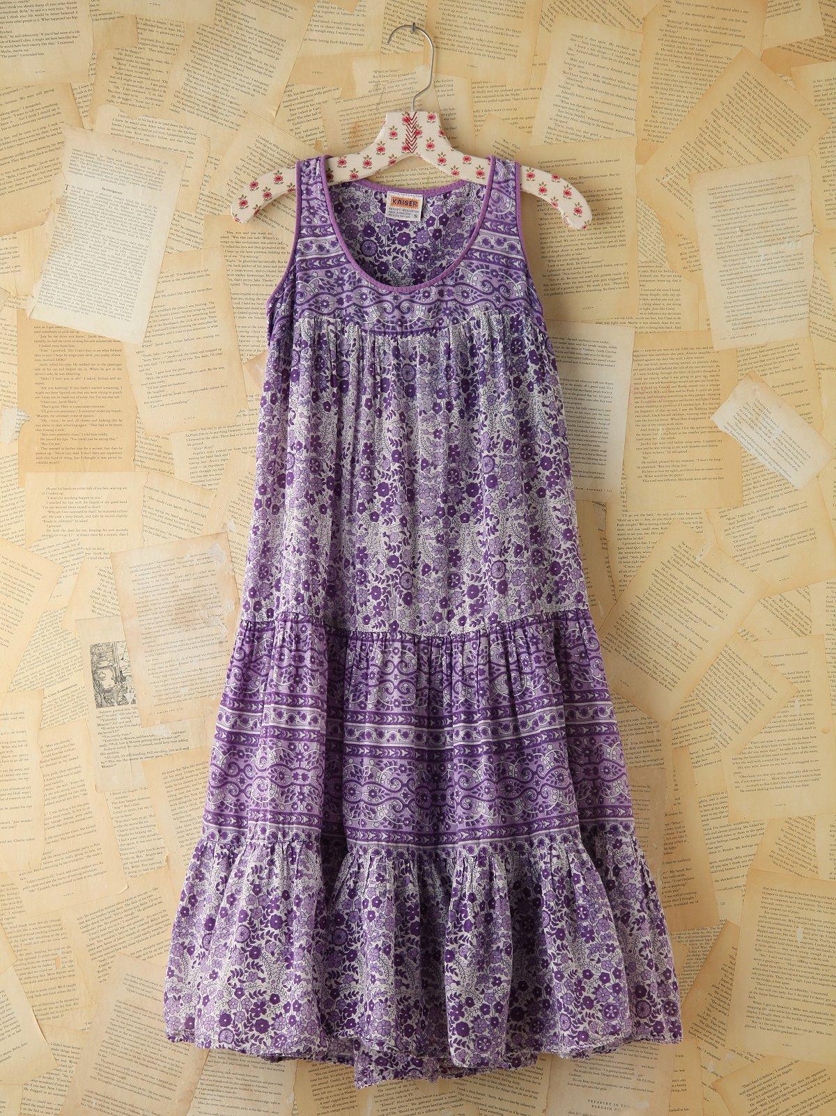 Vintage Floral Printed Dress