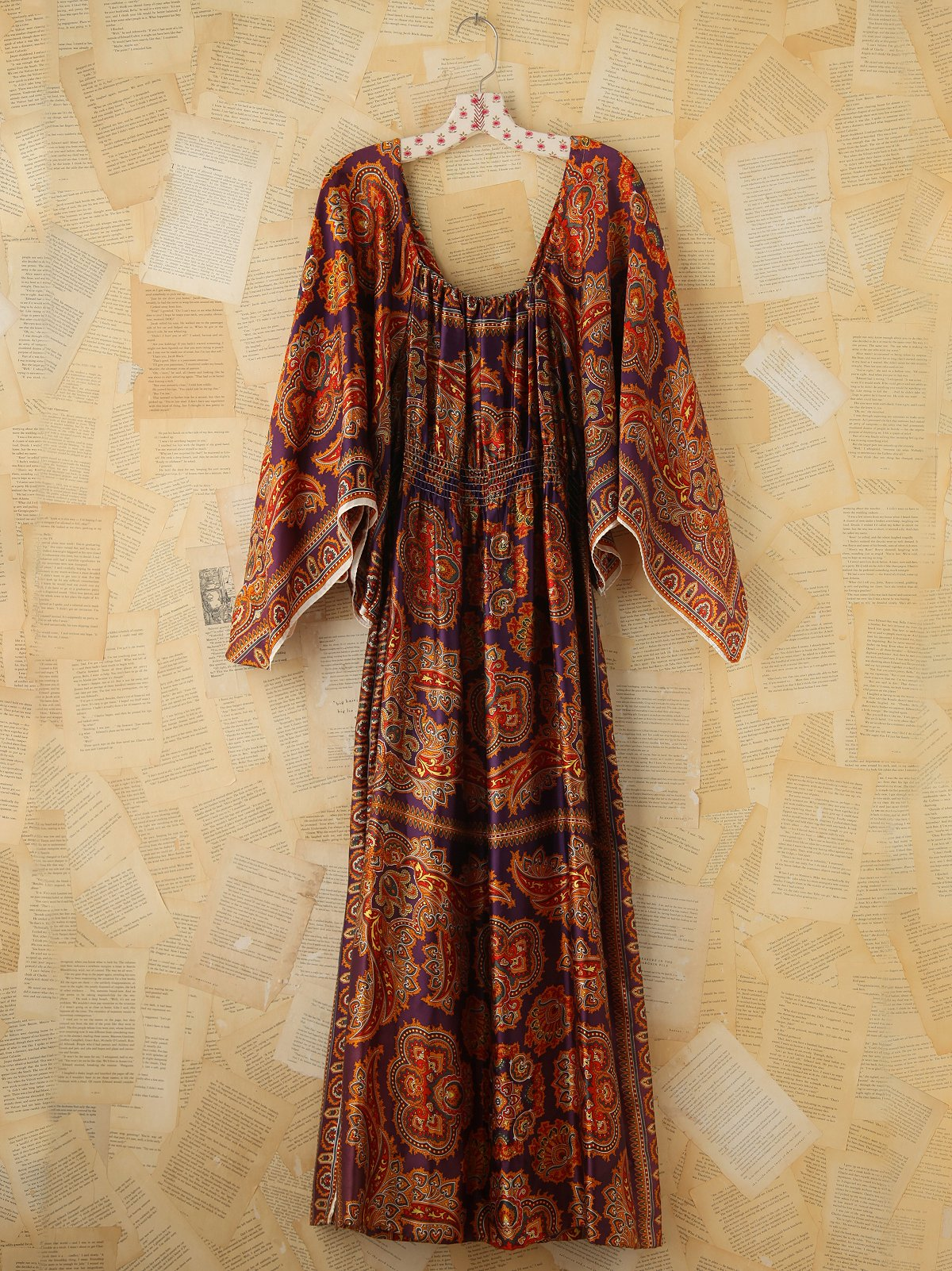 Vintage Scarf Printed Dress