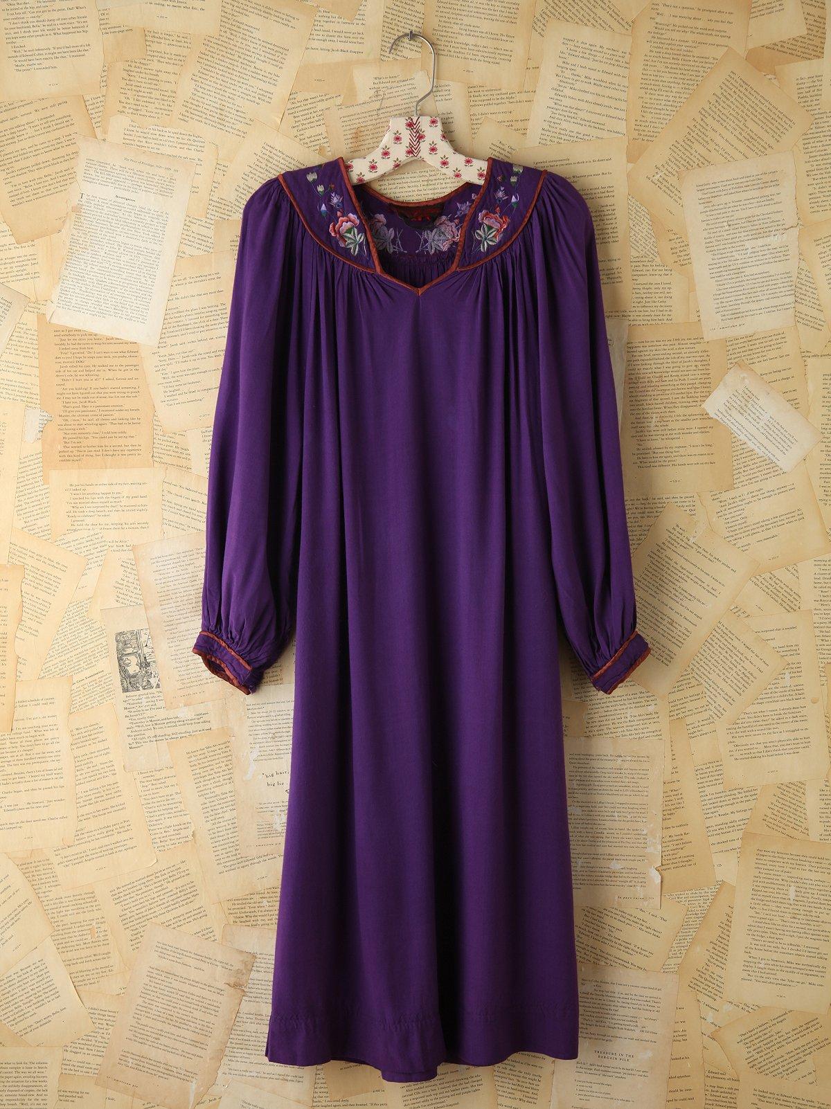 Vintage Embroidered Boho Dress