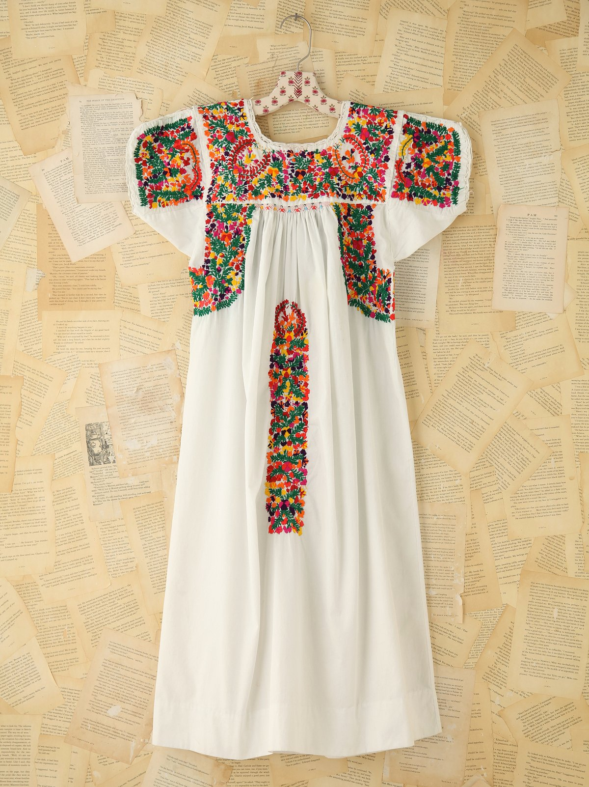 Vintage Colorful Embroidered Dress