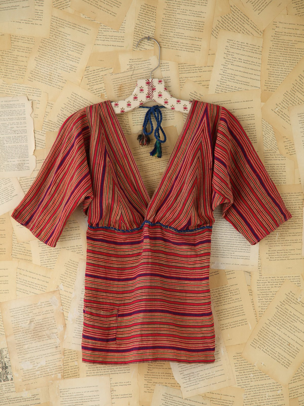 Vintage Striped Tie Top