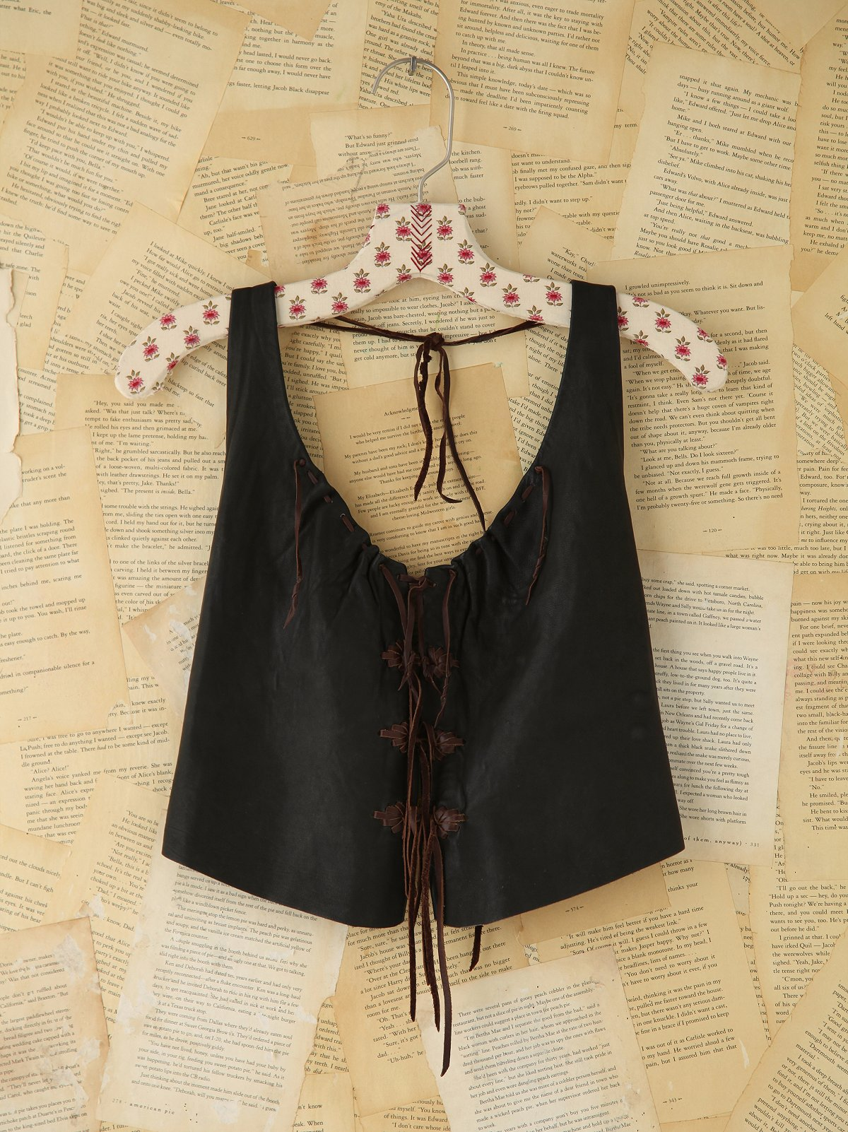 Vintage Leather Halter Top
