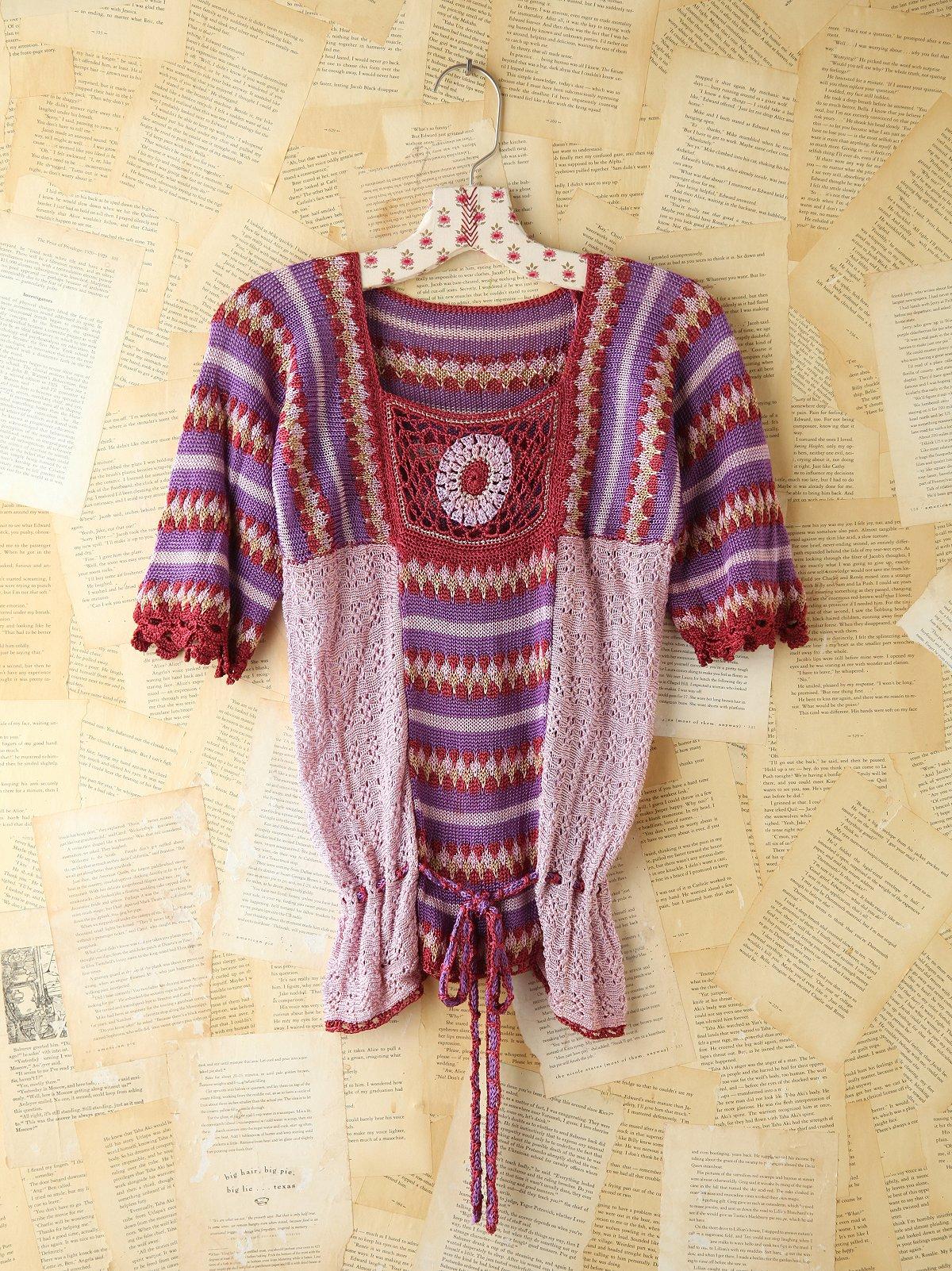 Vintage Multicolor Crochet Top