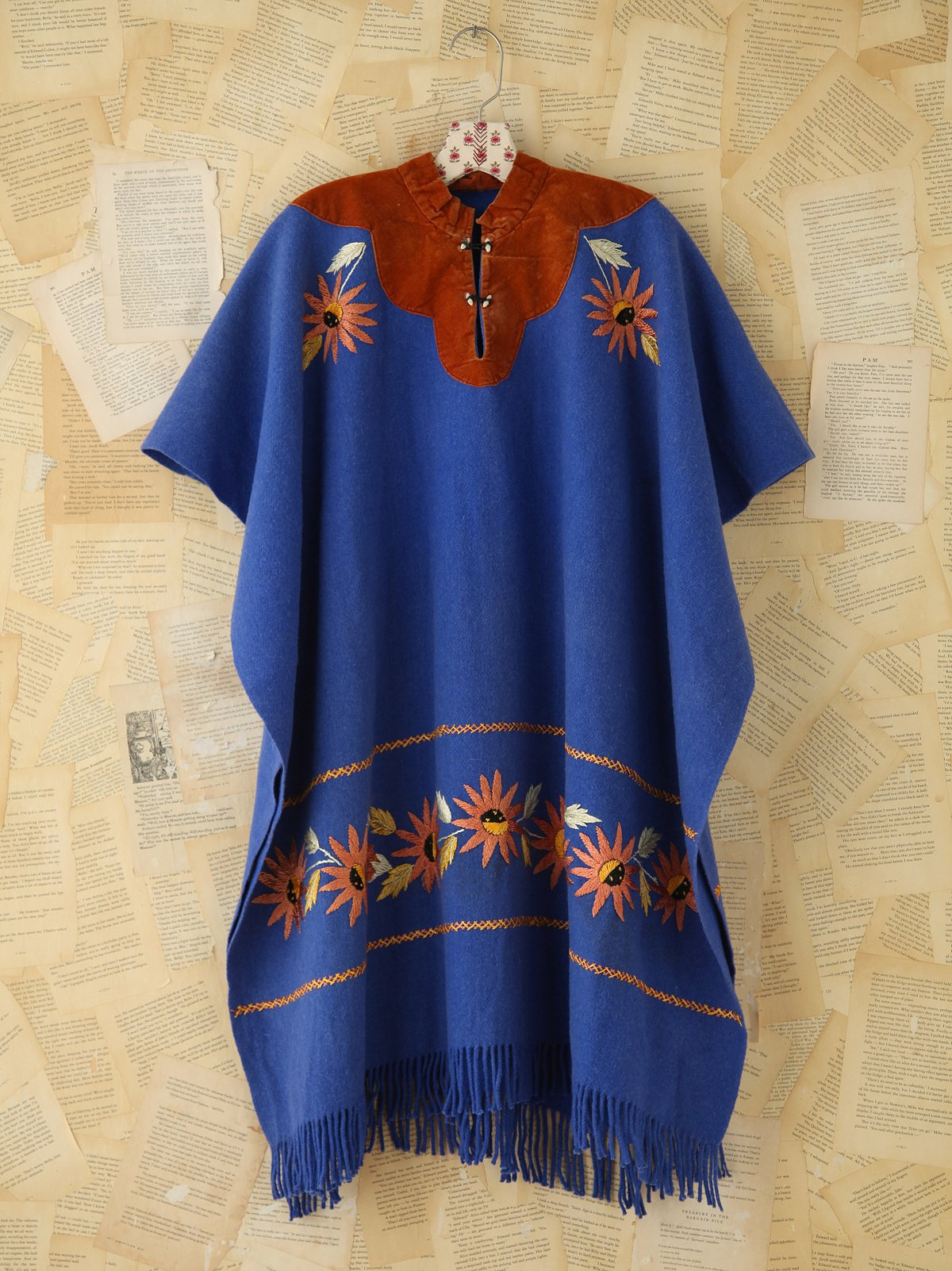 Vintage Embroidered Poncho