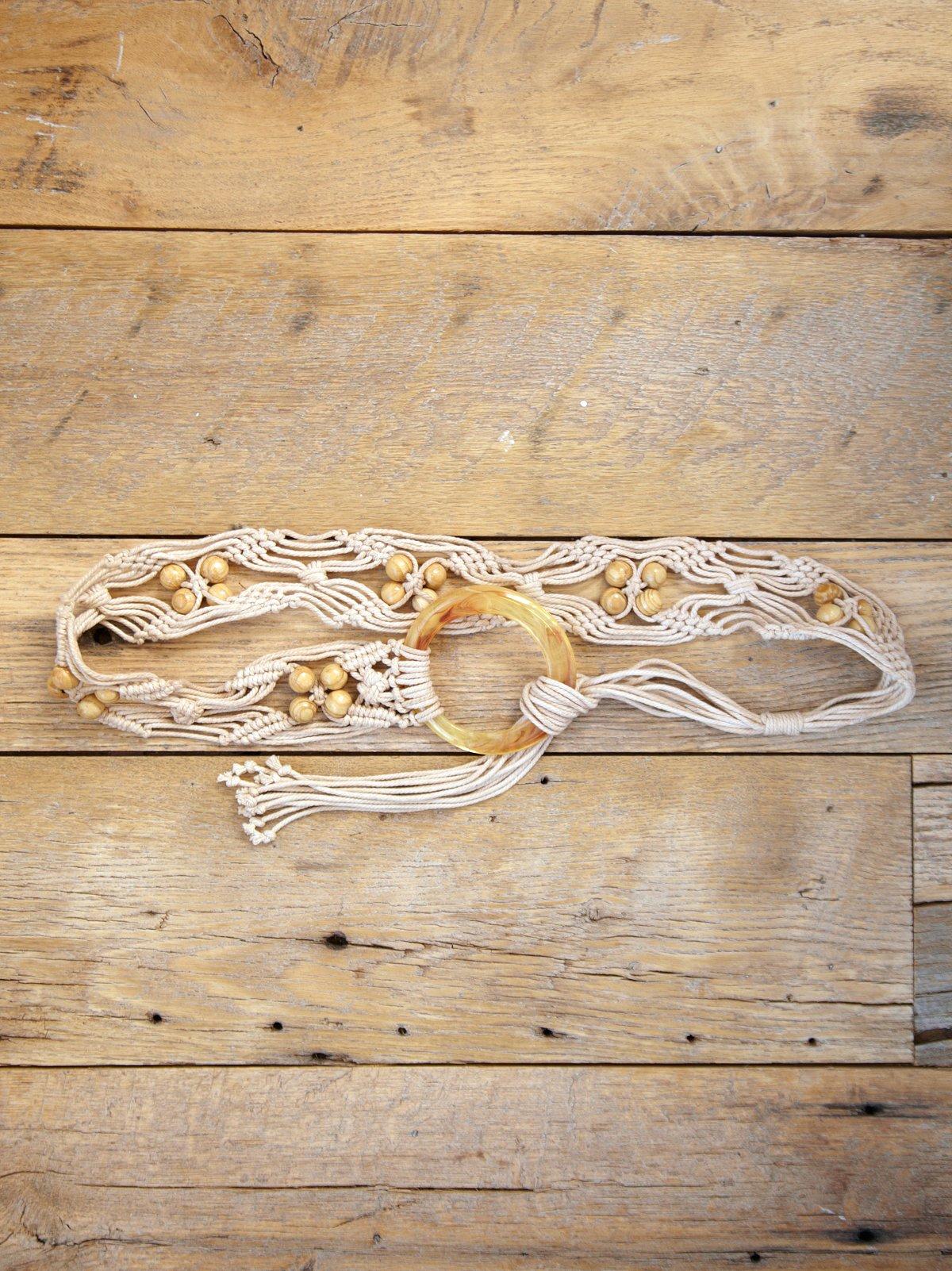 Vintage Braided Rope Belt