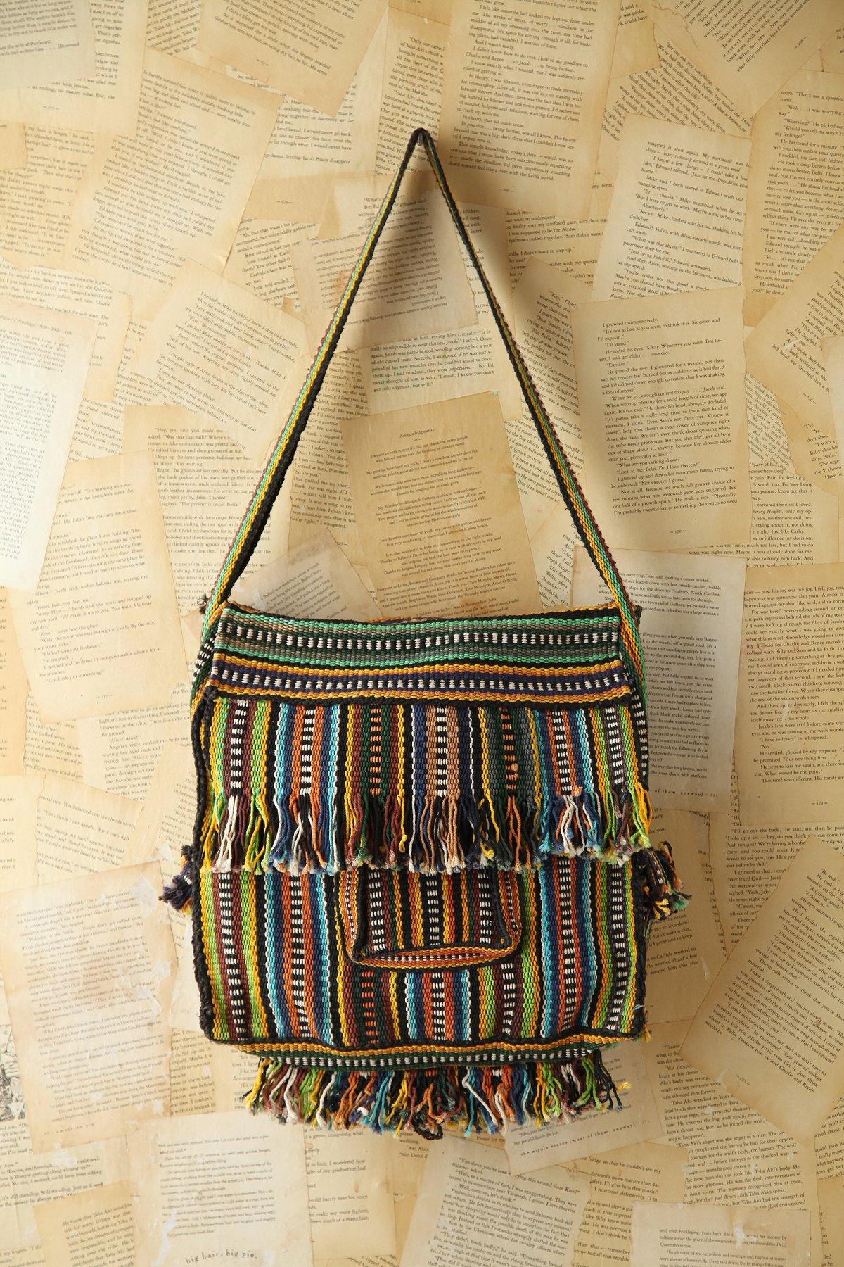 Vintage Woven Messenger Bag