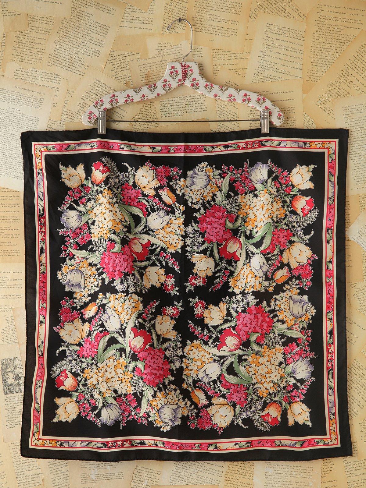 Vintage Floral Printed Scarf