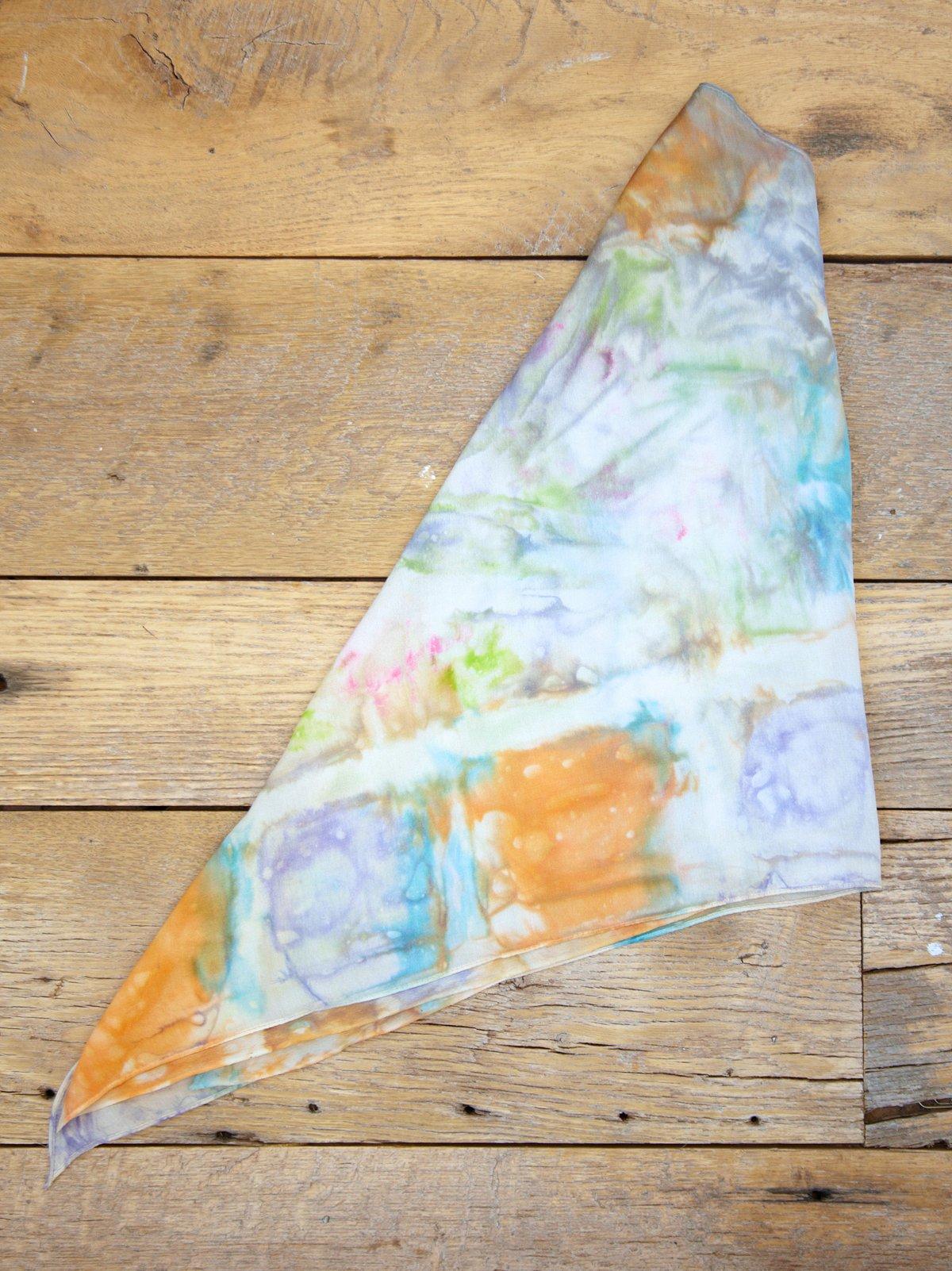 Vintage Tie Dye Silk Scarf