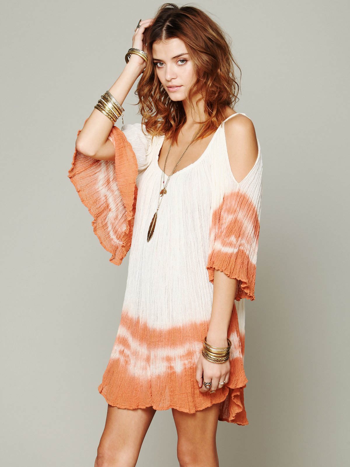 Nena Tie Dye Gauze Dress