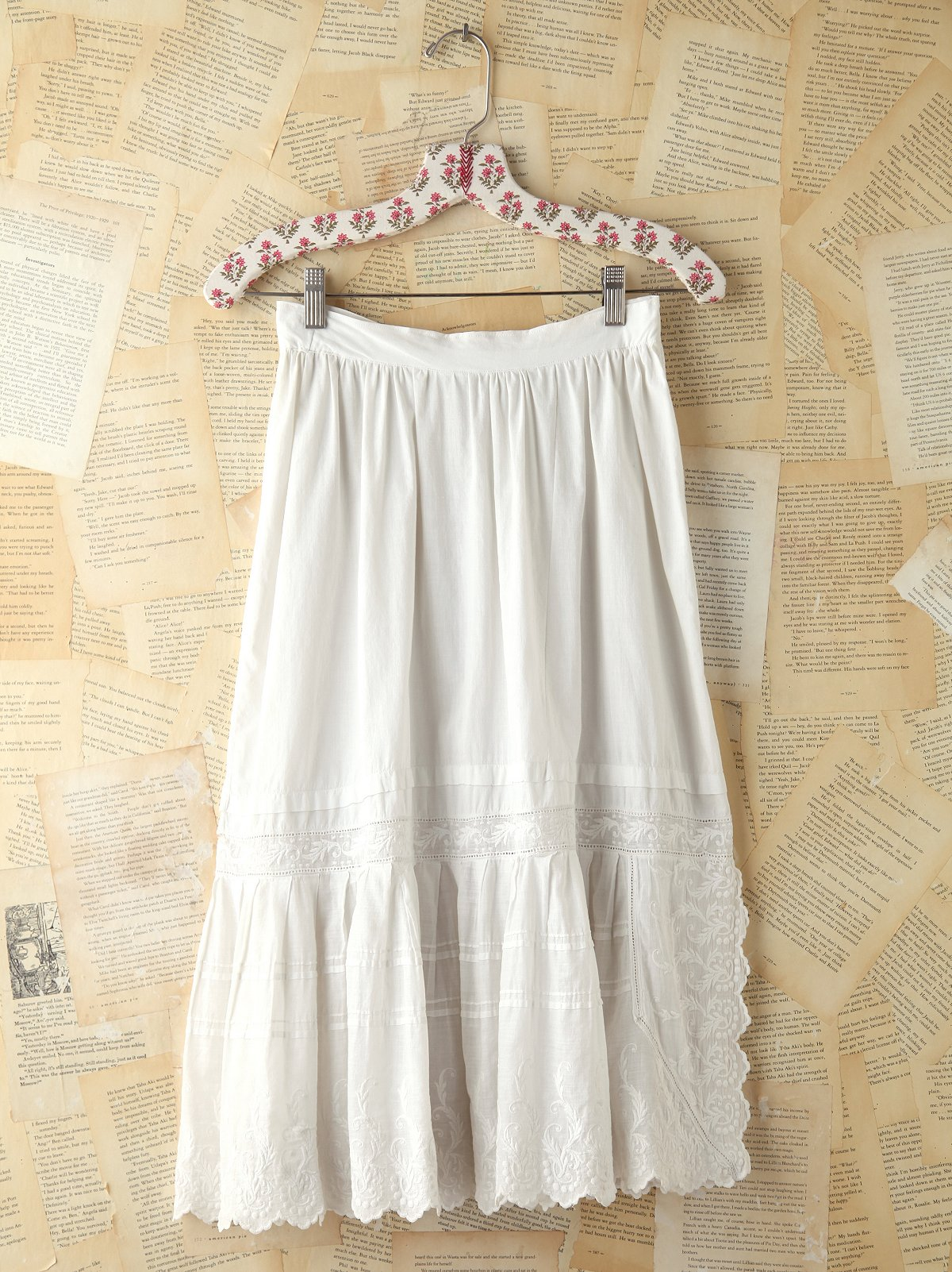 Vintage Embroidered Midi Skirt