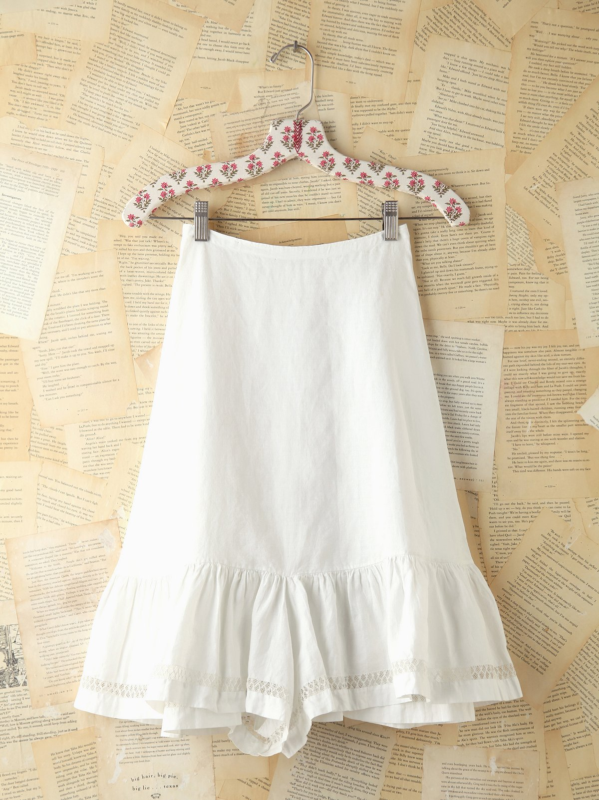 Vintage Crochet Trimmed Skirt