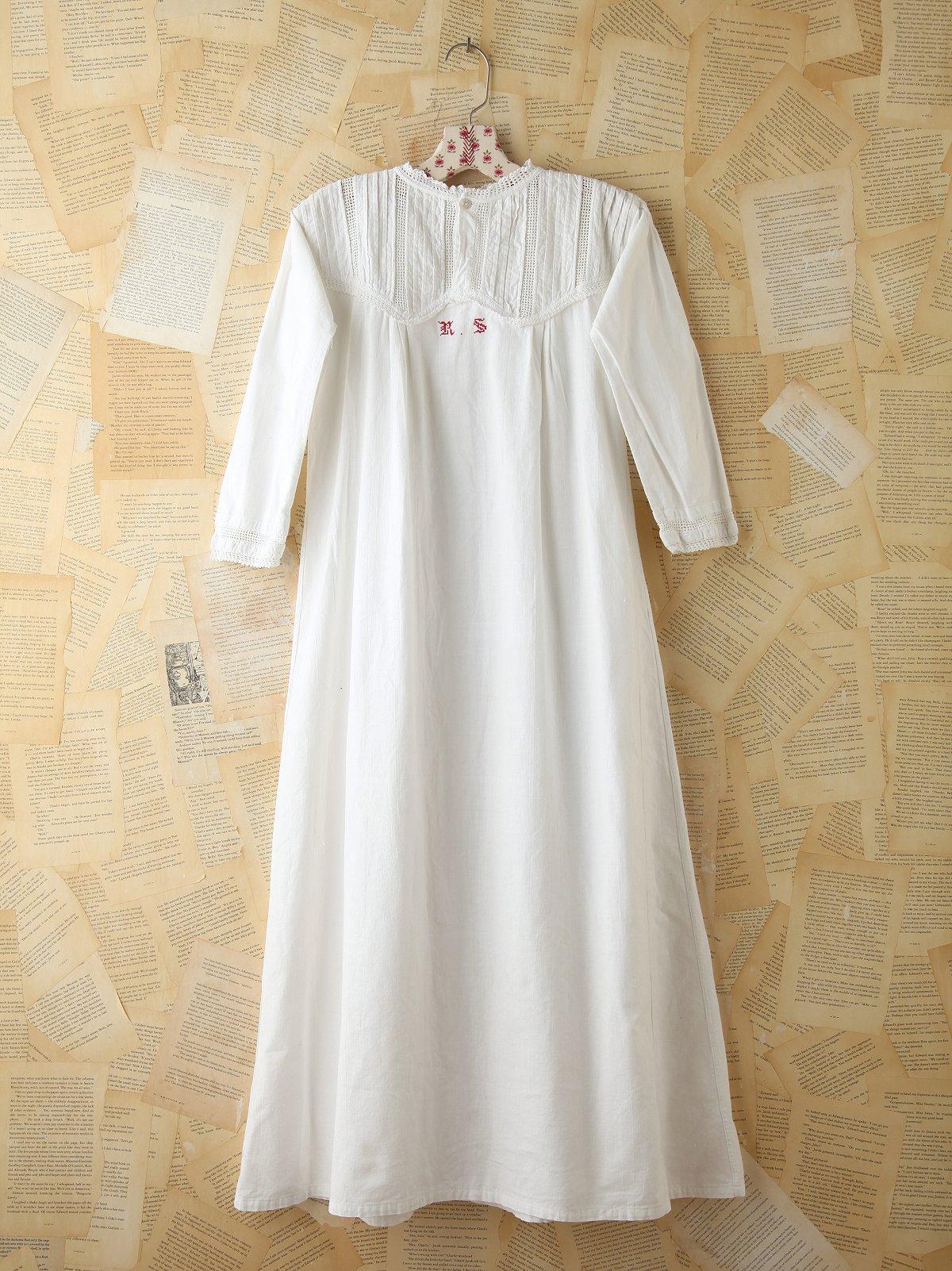 Vintage Monogrammed Dress