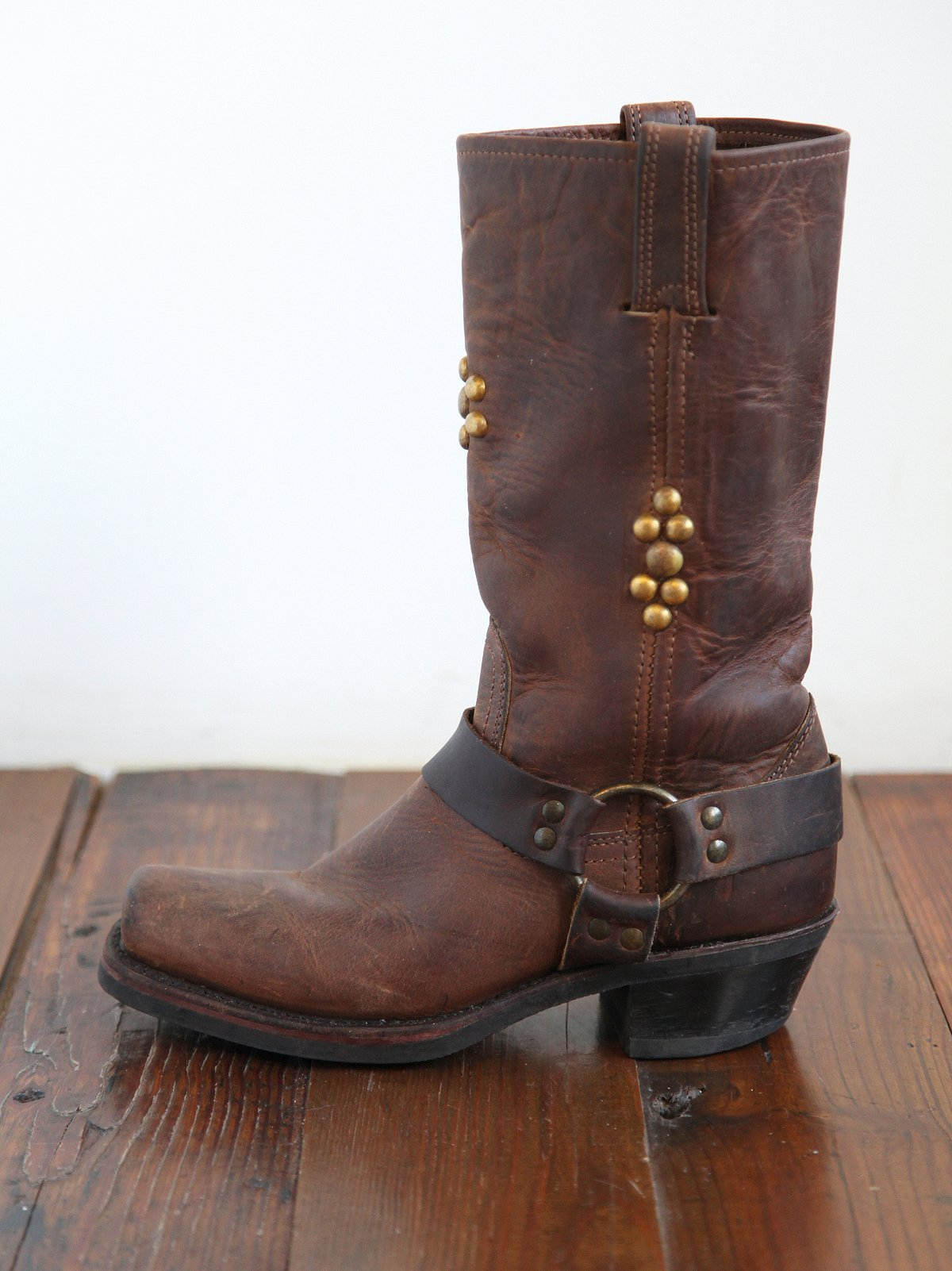 Vintage Studded Leather Frye Boots