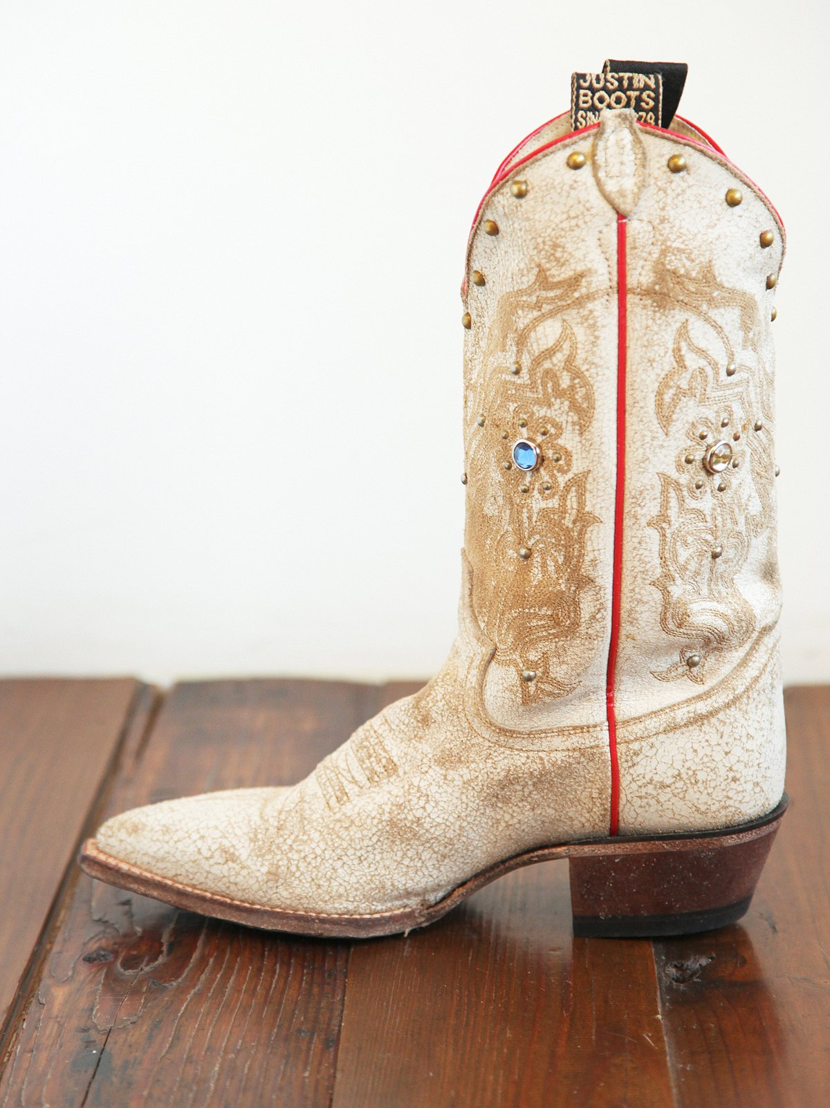 Vintage Justin Embellished Leather Boot