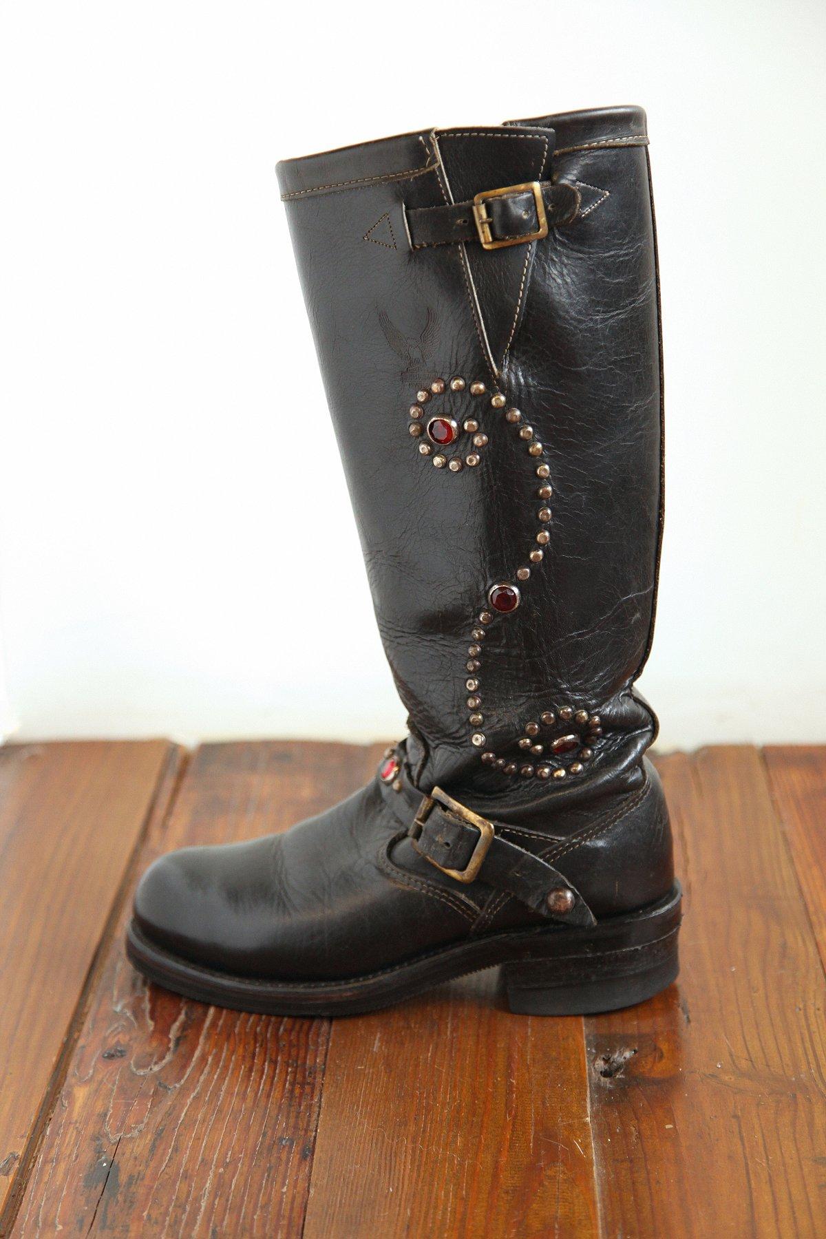 Vintage Studded Combat Boots