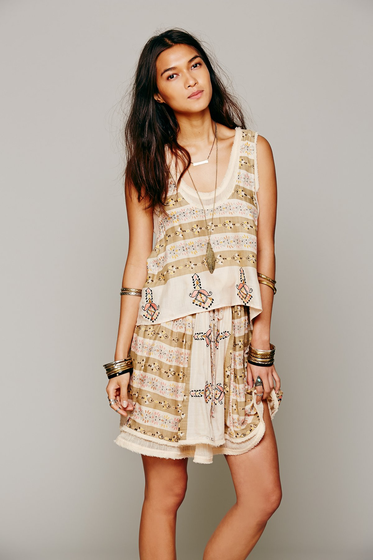 FP New Romantics Voodoo Mama Stripe 2fer Dress