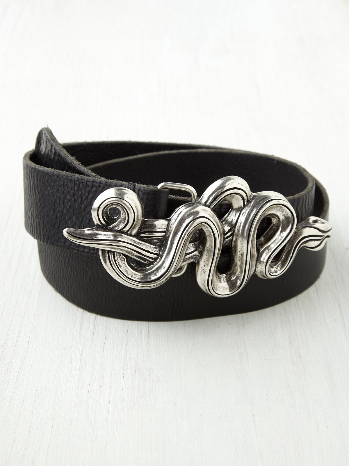Serpent Leather Belt