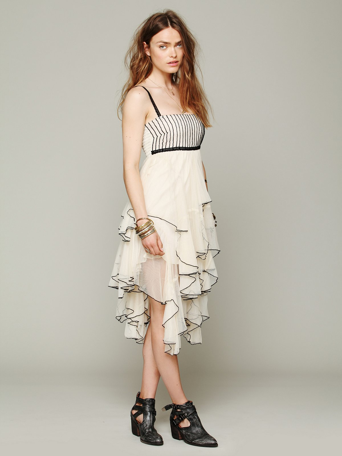 FP ONE  Mesh Tiered Dress