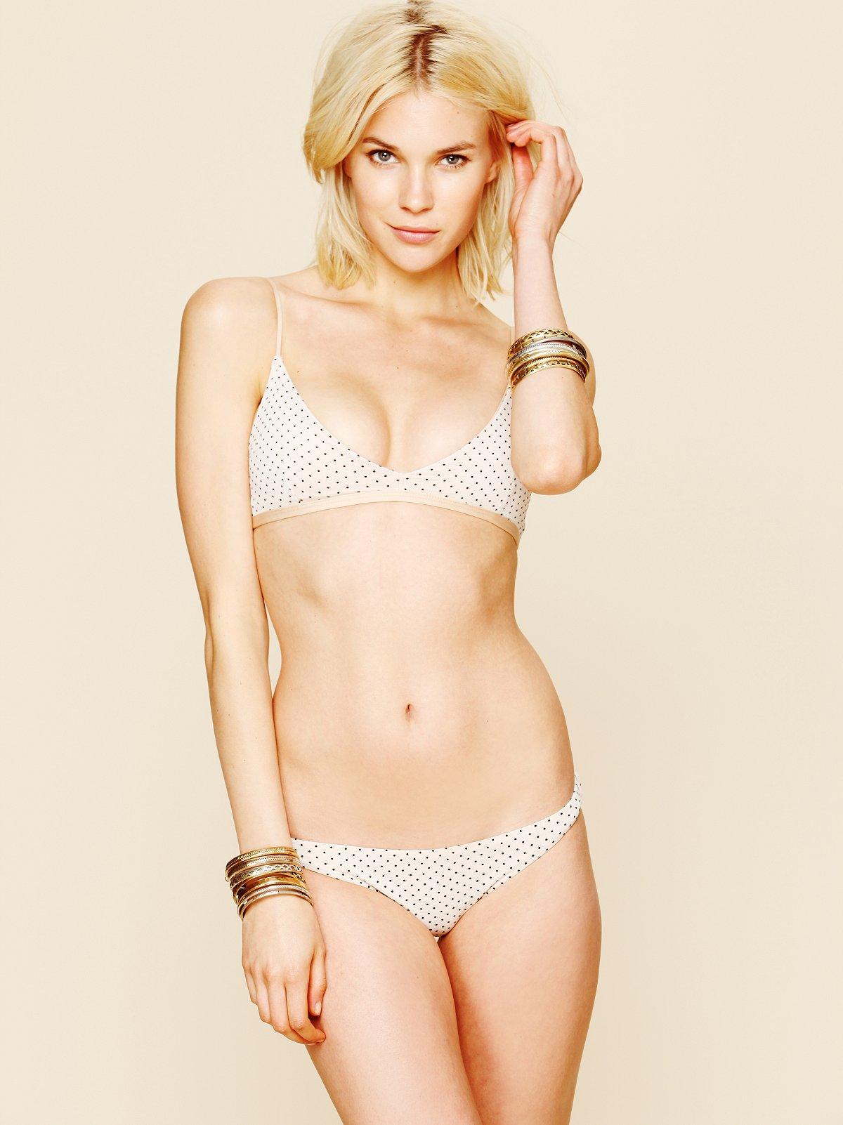 Drawstring Polka Dot Bikini