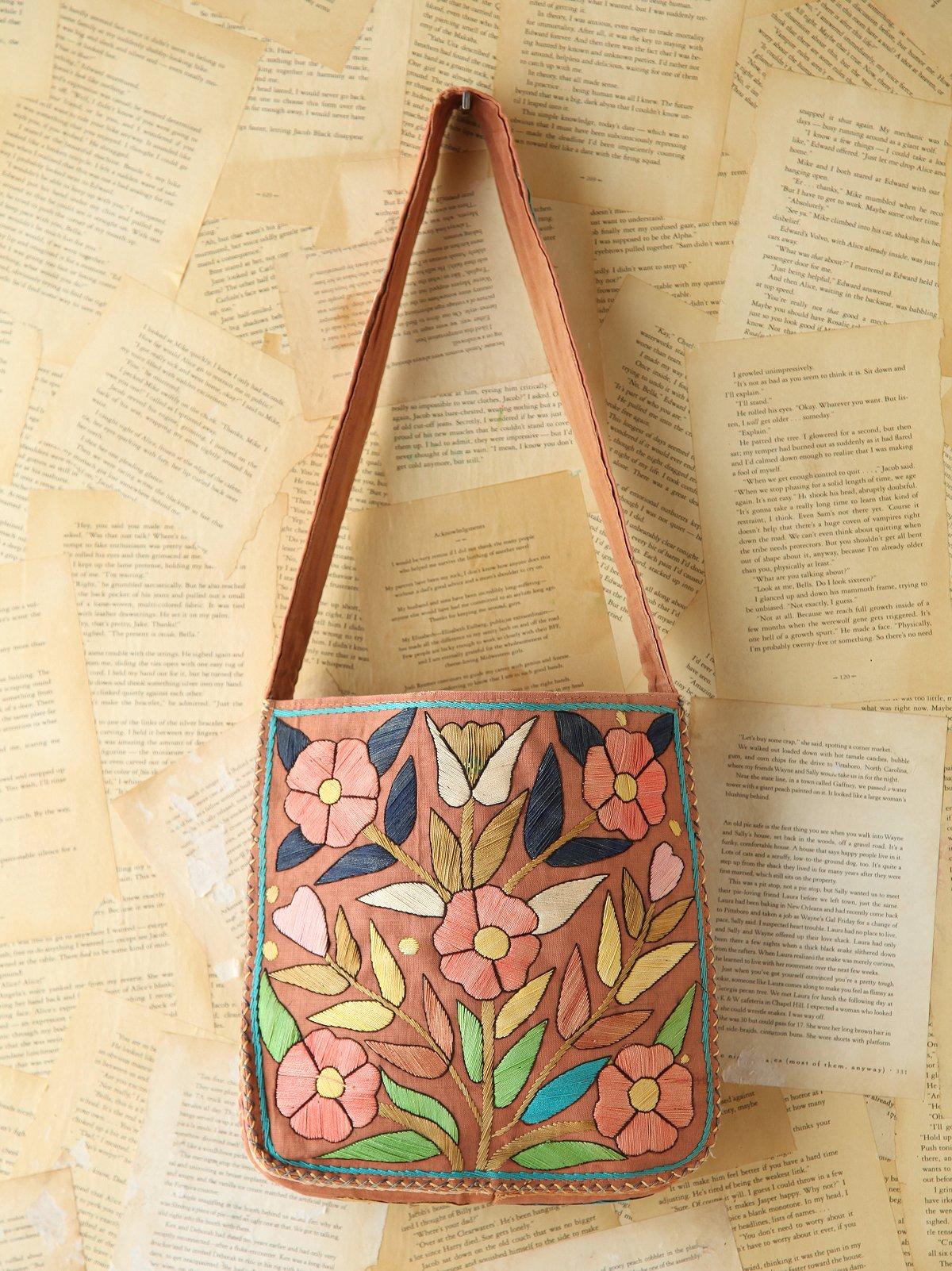 Vintage Floral Embroidered Bag