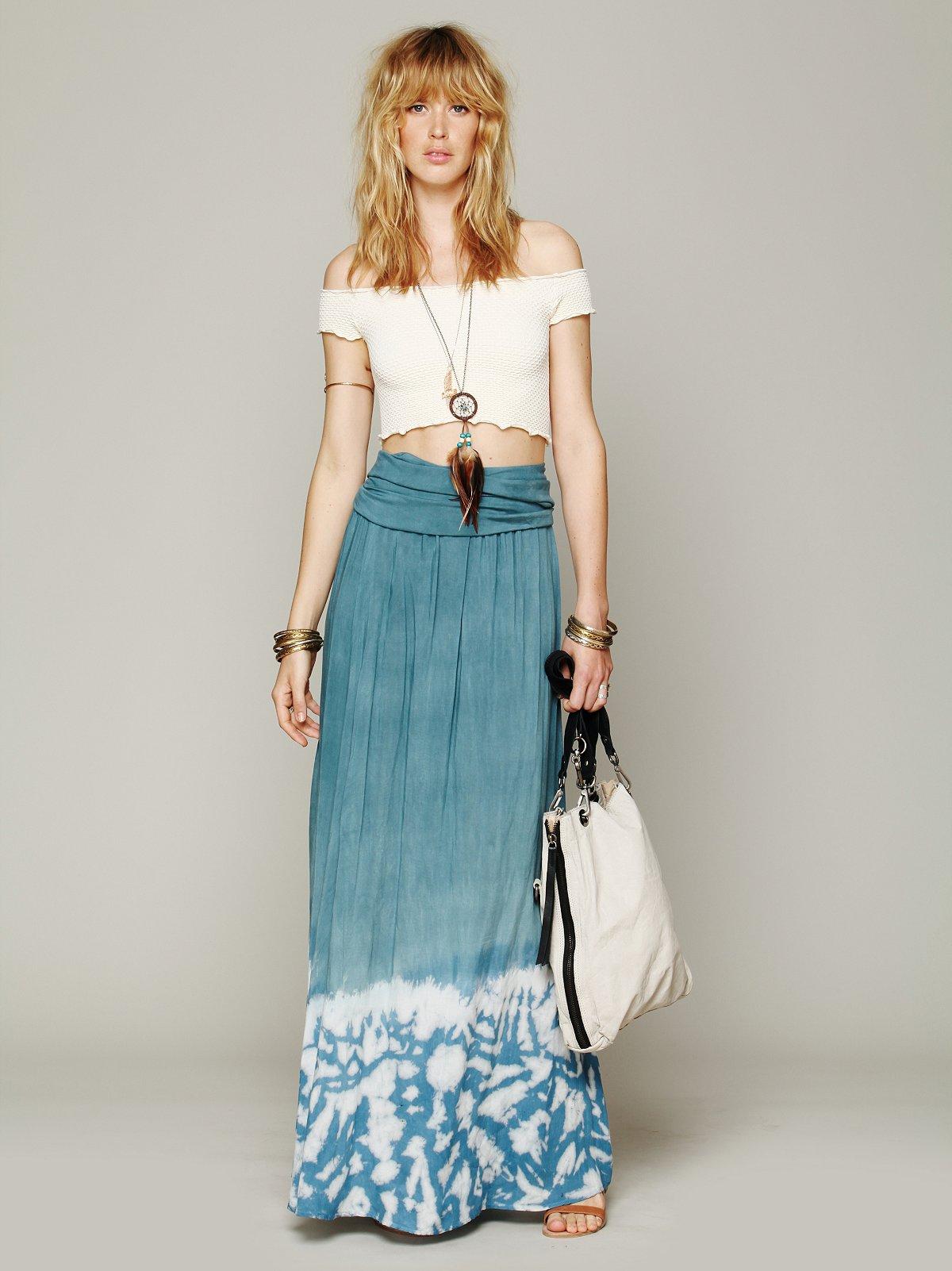 Convertible Tie Dye Skirt