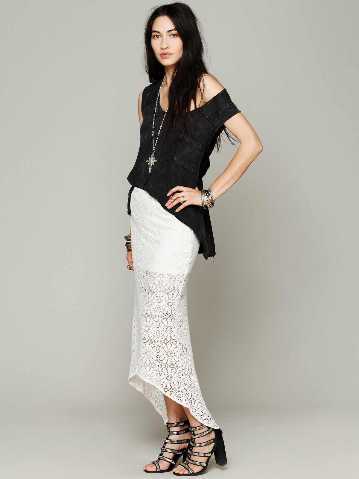 Wilde Crochet Pencil Skirt