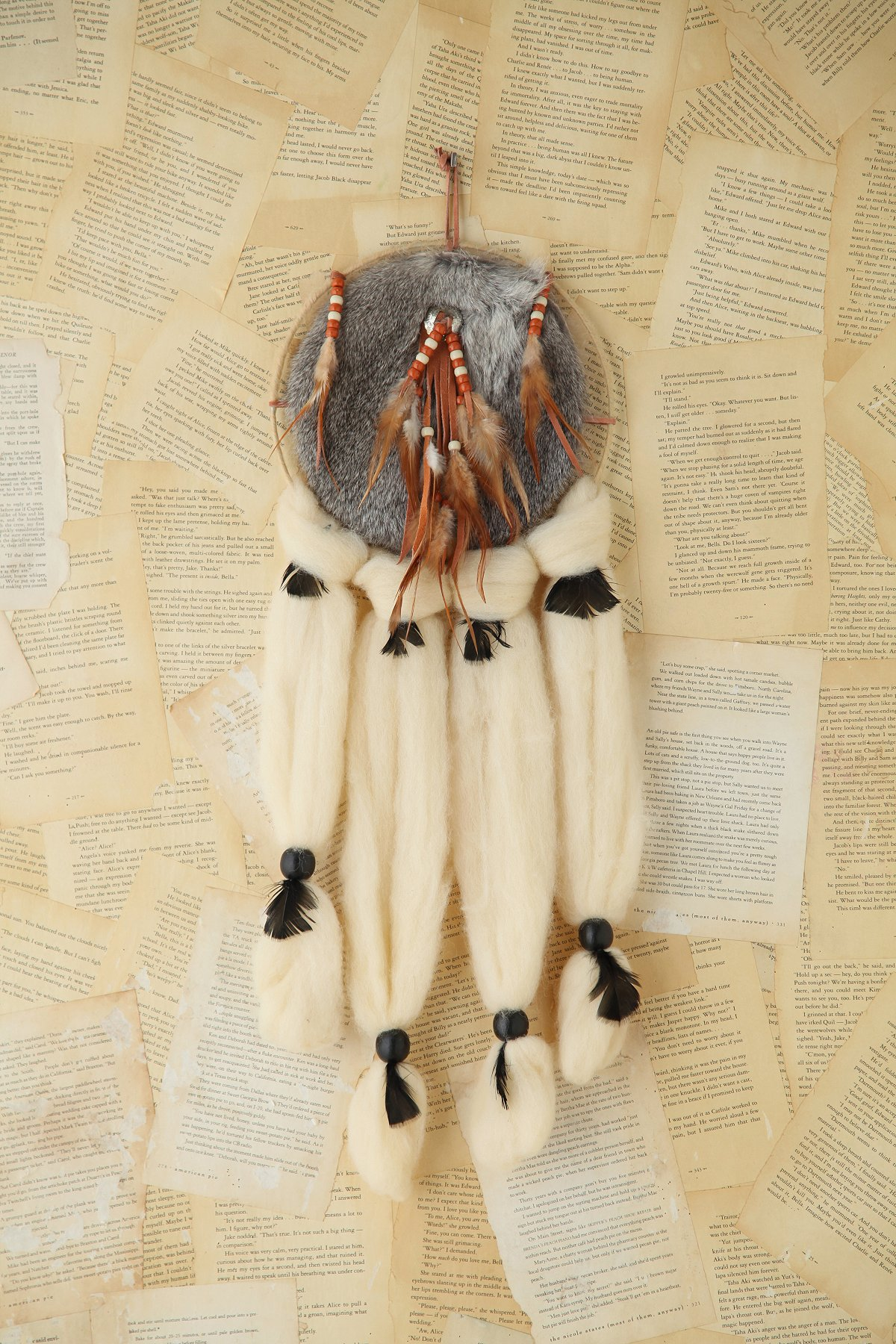 Vintage Large Furry Dreamcatcher