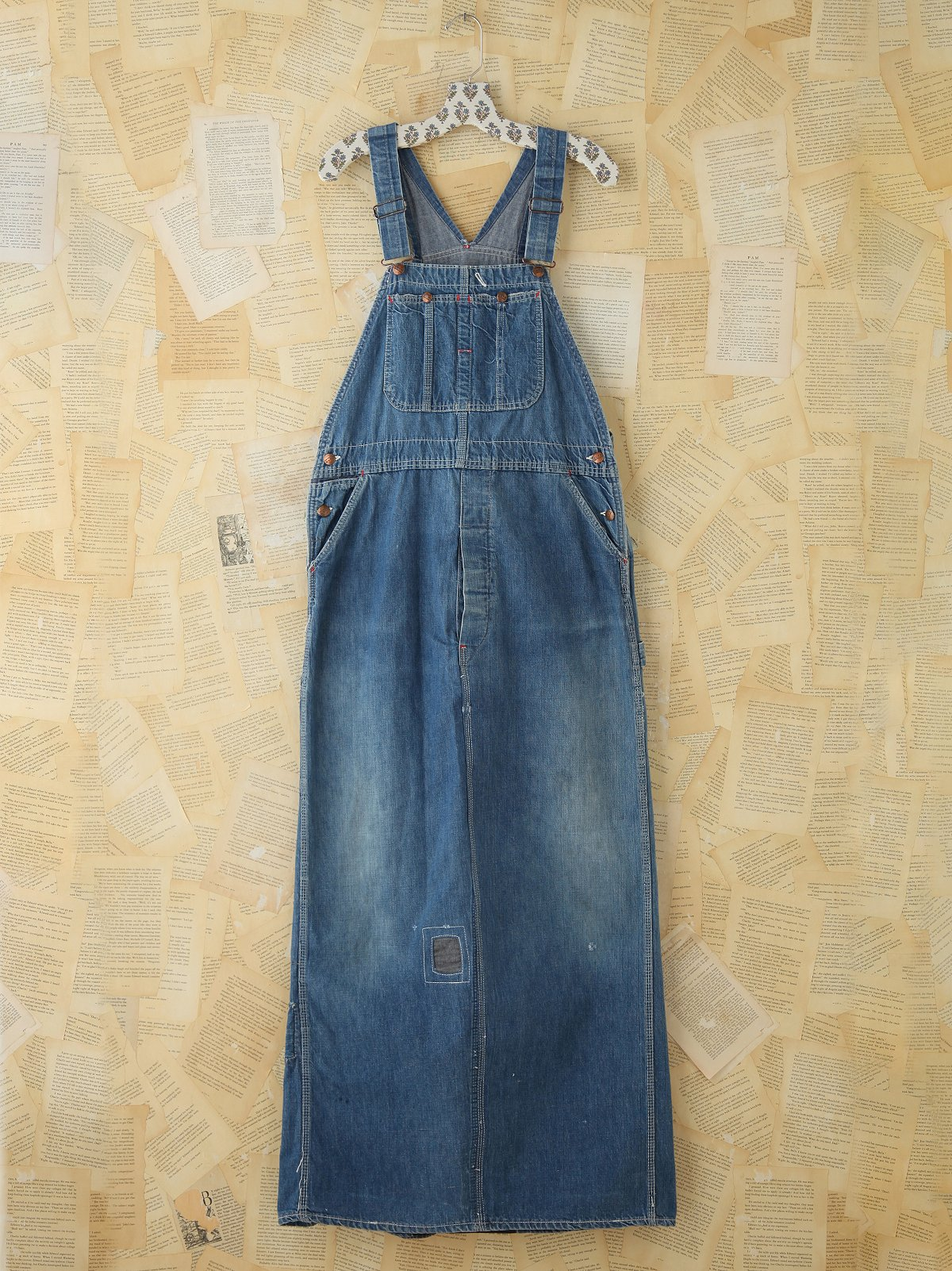 Vintage Indigo Overall Dress