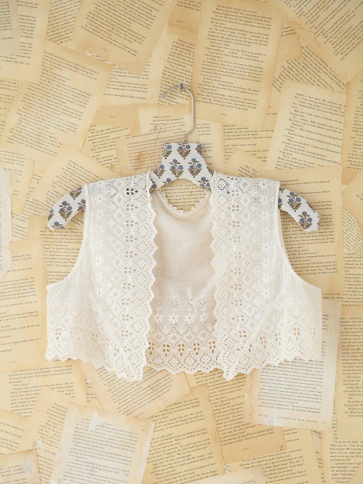 Vintage Cotton Eyelet Vest