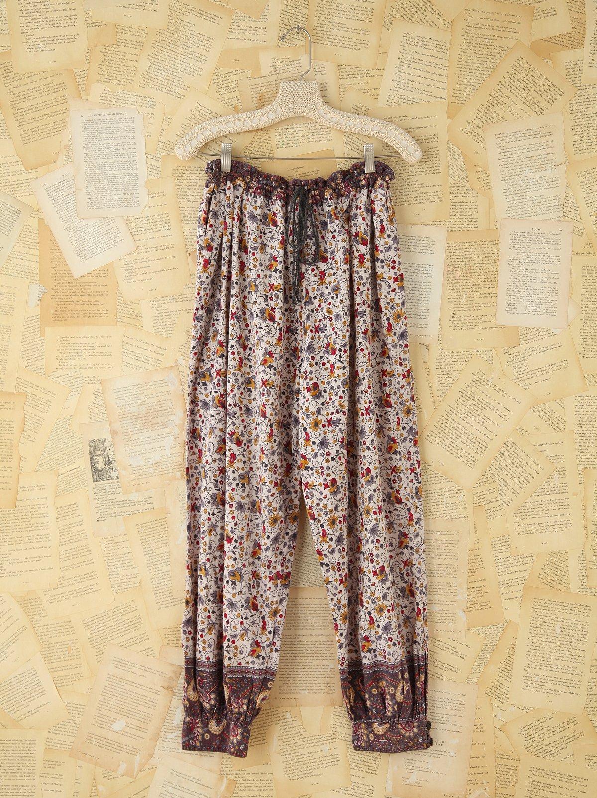 Vintage Floral Cotton Pants