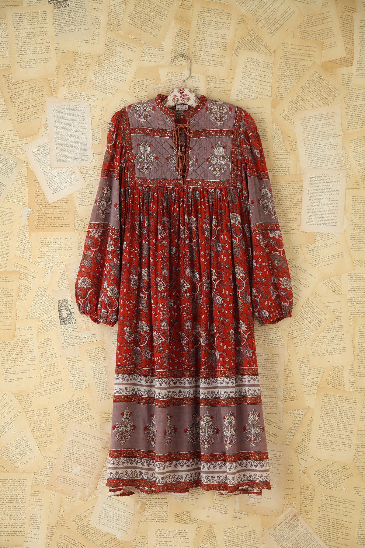 Vintage Printed Indian Dress