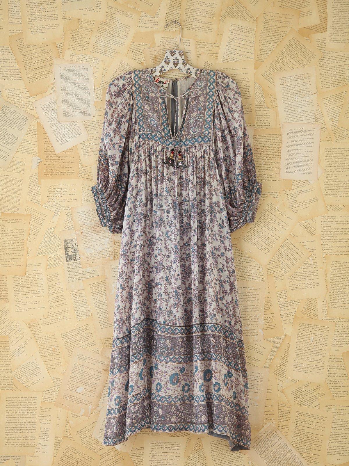 Vintage Patterned Boho Dress