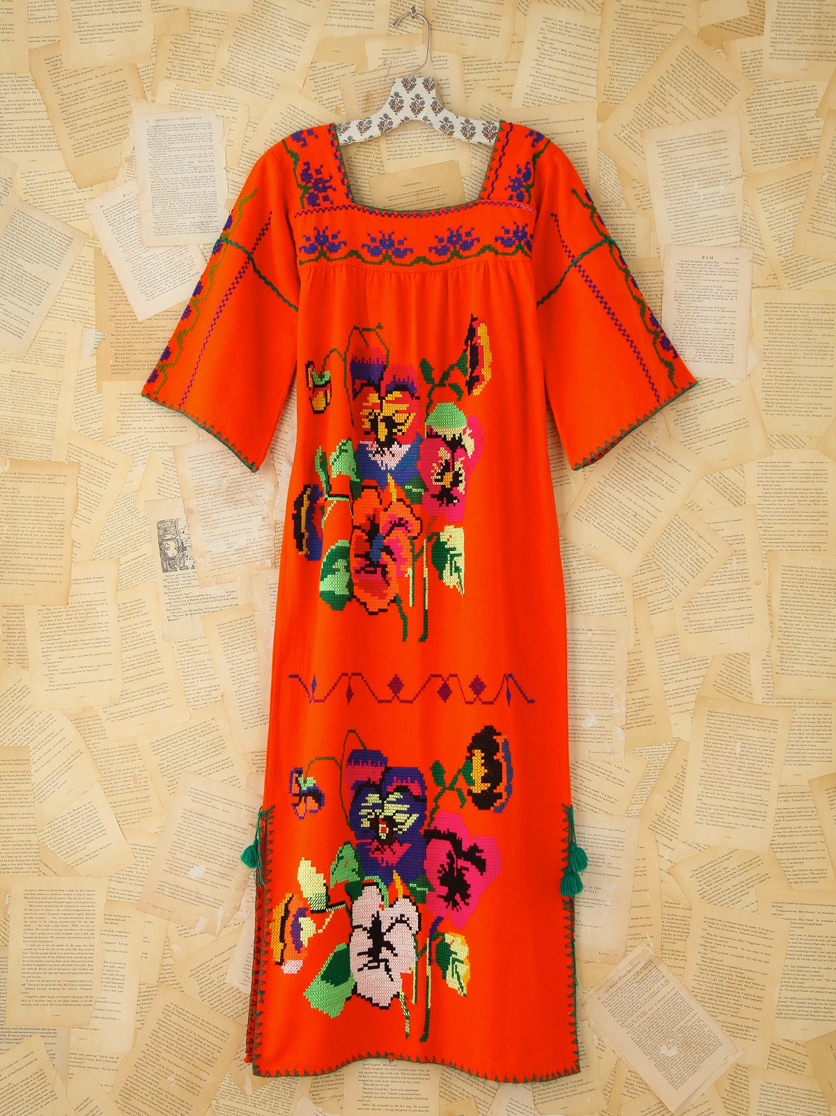 Vintage Embrodiered Boho Dress