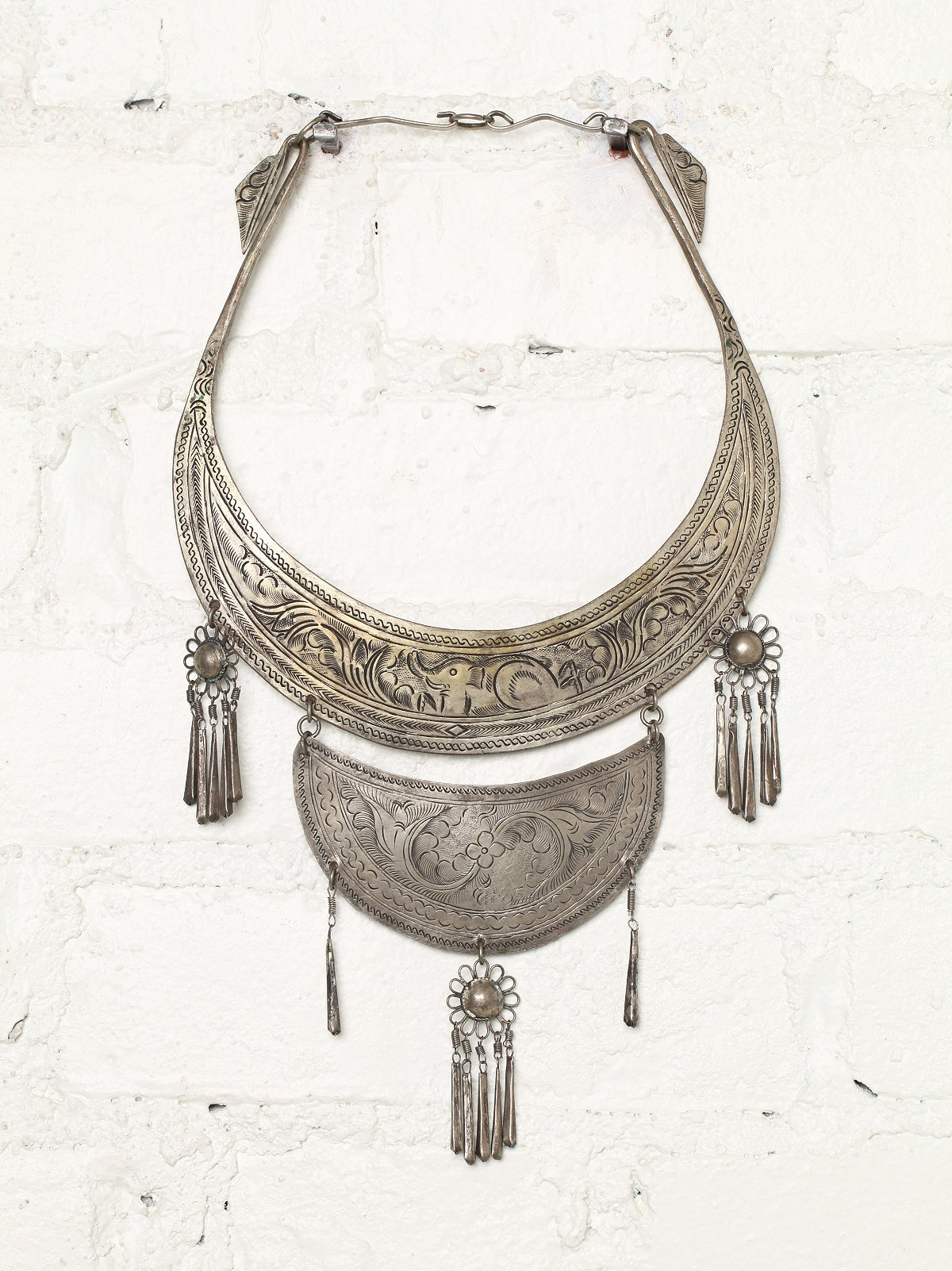 Vintage Metal Plate Necklace