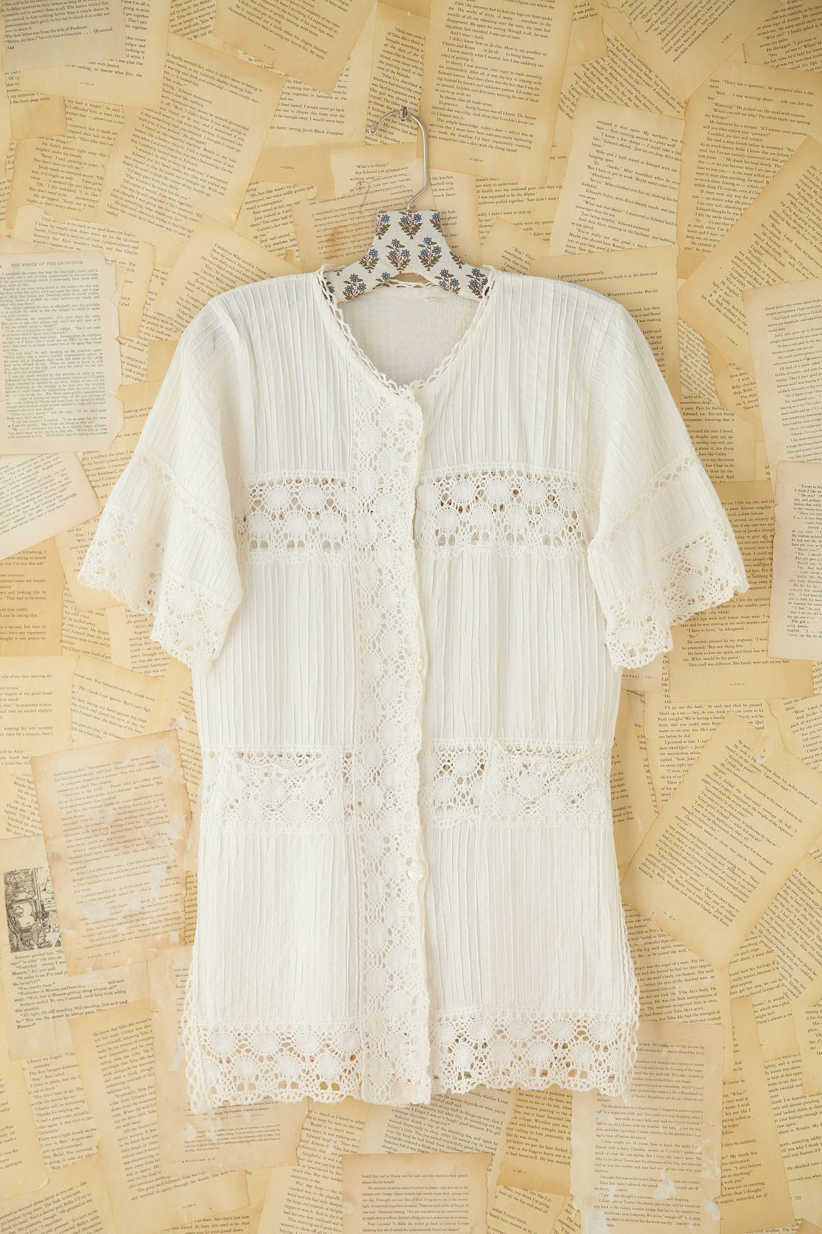 Vintage Cotton and Crochet Top