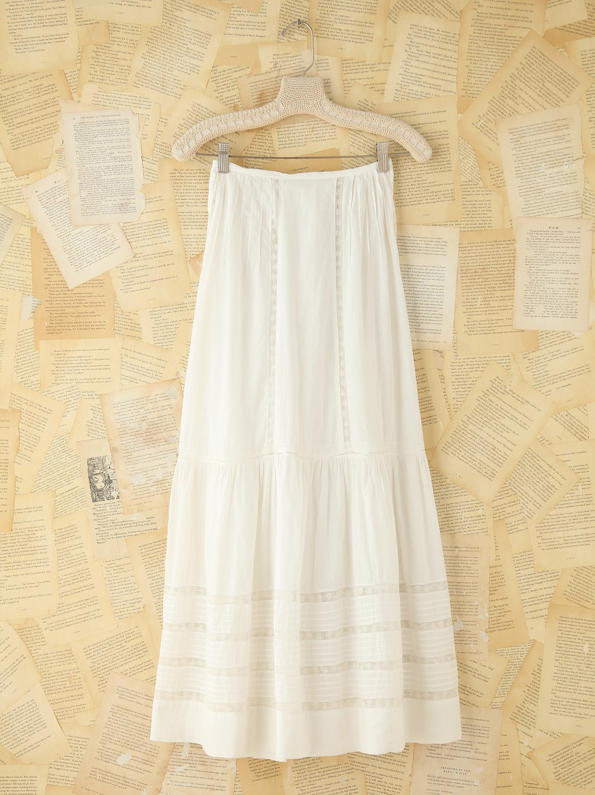 Vintage Cotton Maxi Skirt
