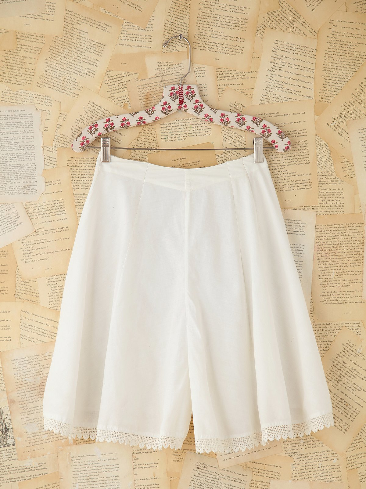 Vintage Crochet Trimmed Bloomer Shorts
