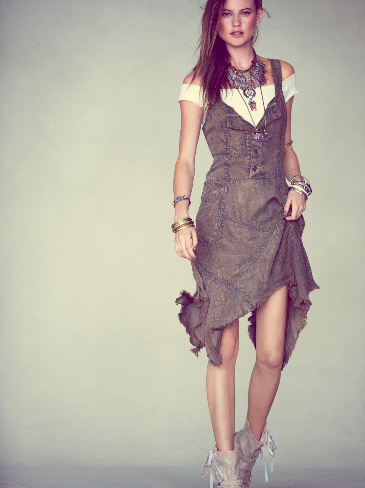 Tencel Washed Apron Dress