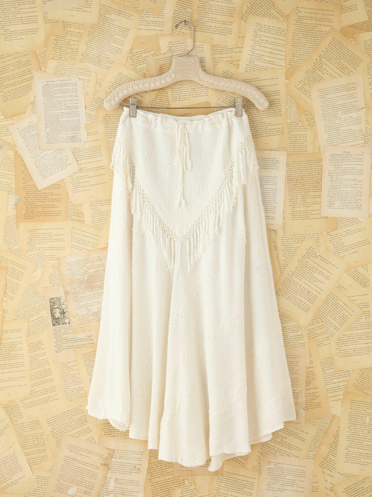 Vintage Chevron Fringe Skirt