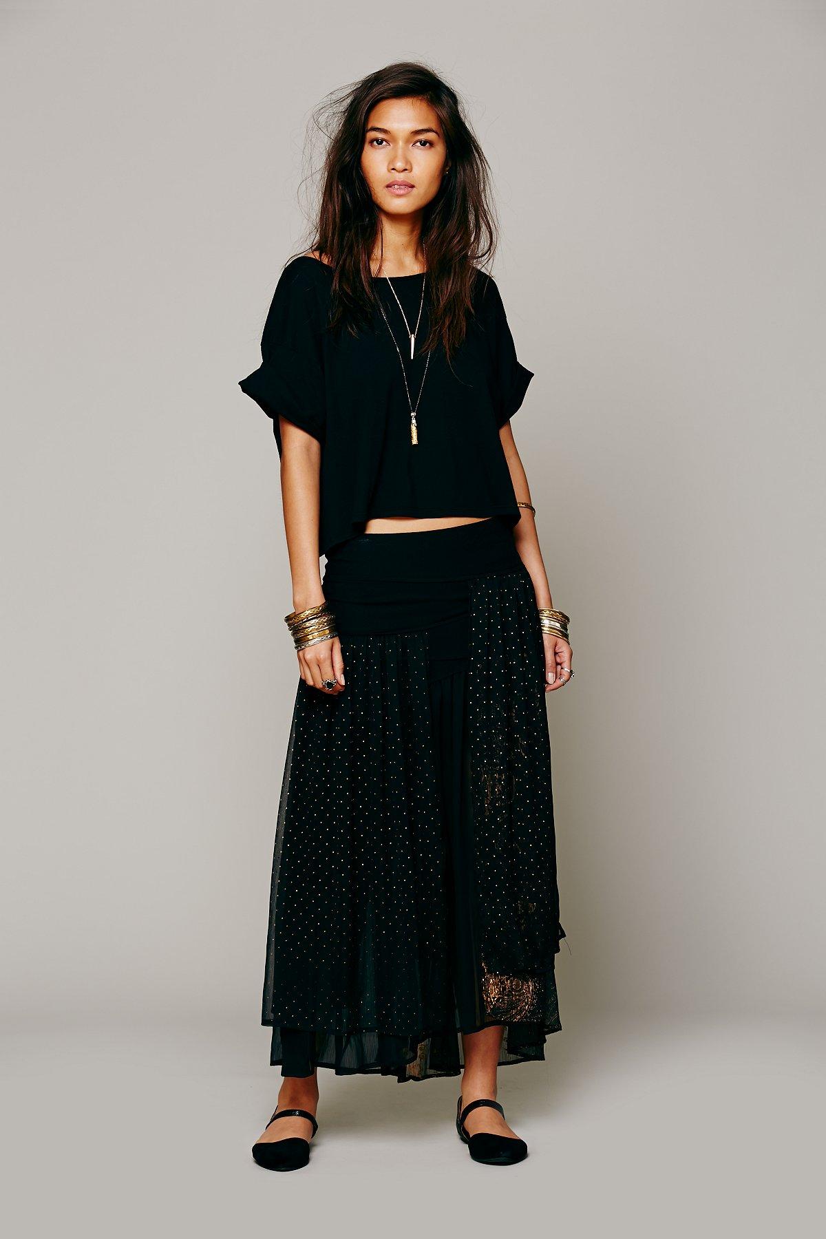 Kristal Ruffle Dot Skirt