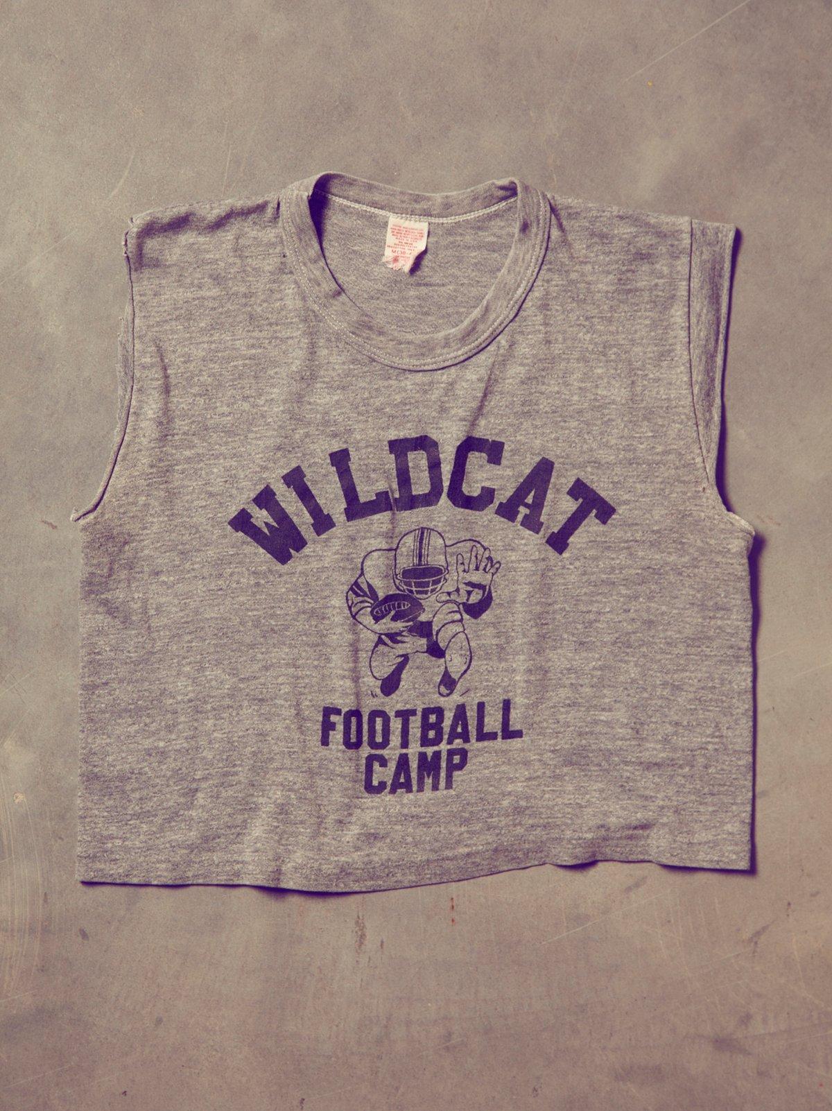 Vintage Wildcat Cropped Tank