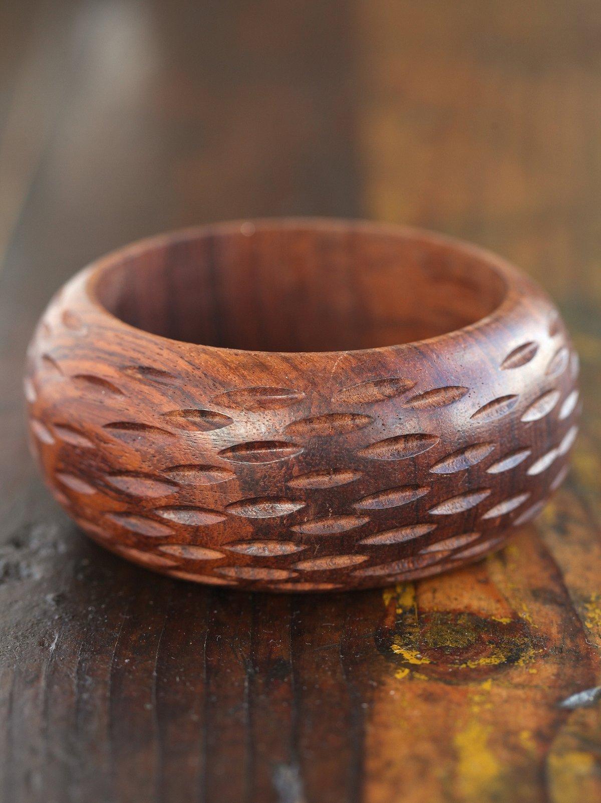 Vintage Thick Wood Bangle
