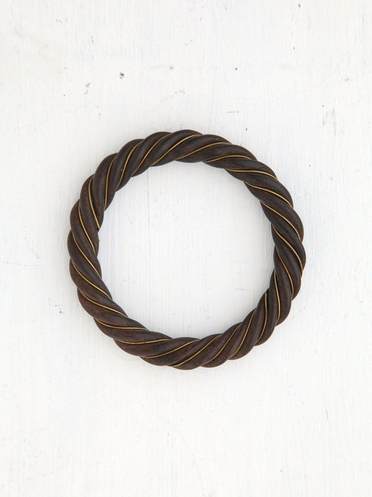 Vintage Twisted Wood Bangle