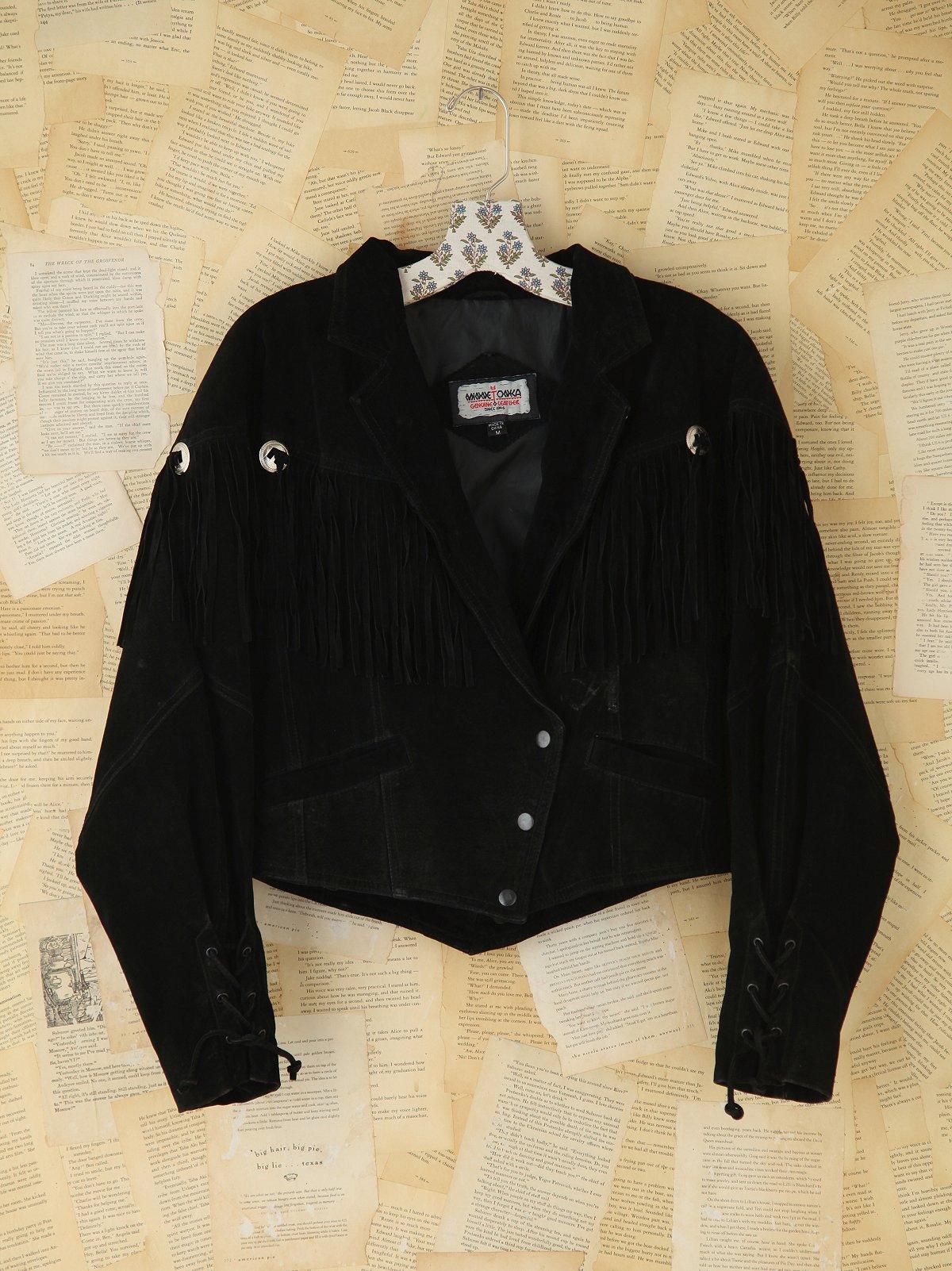 Vintage Suede Minnetonka Fringe Jacket